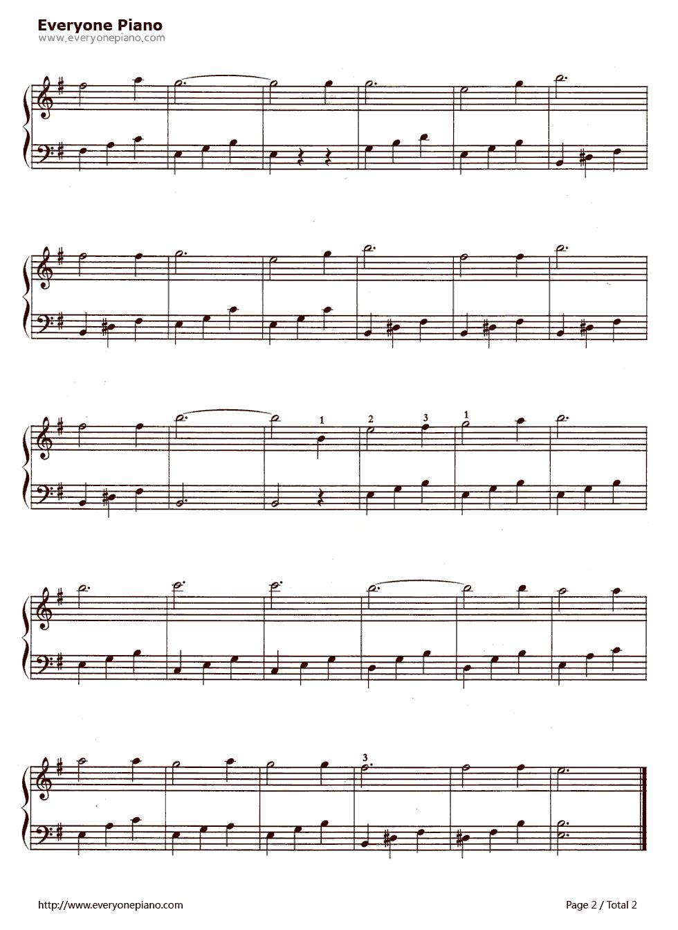 谁有中国国歌的五线谱