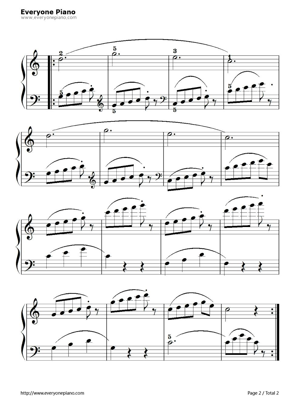 网站首页 钢琴曲谱 练习曲 孩子们的拜厄62 >> 孩子们的拜厄62五线谱