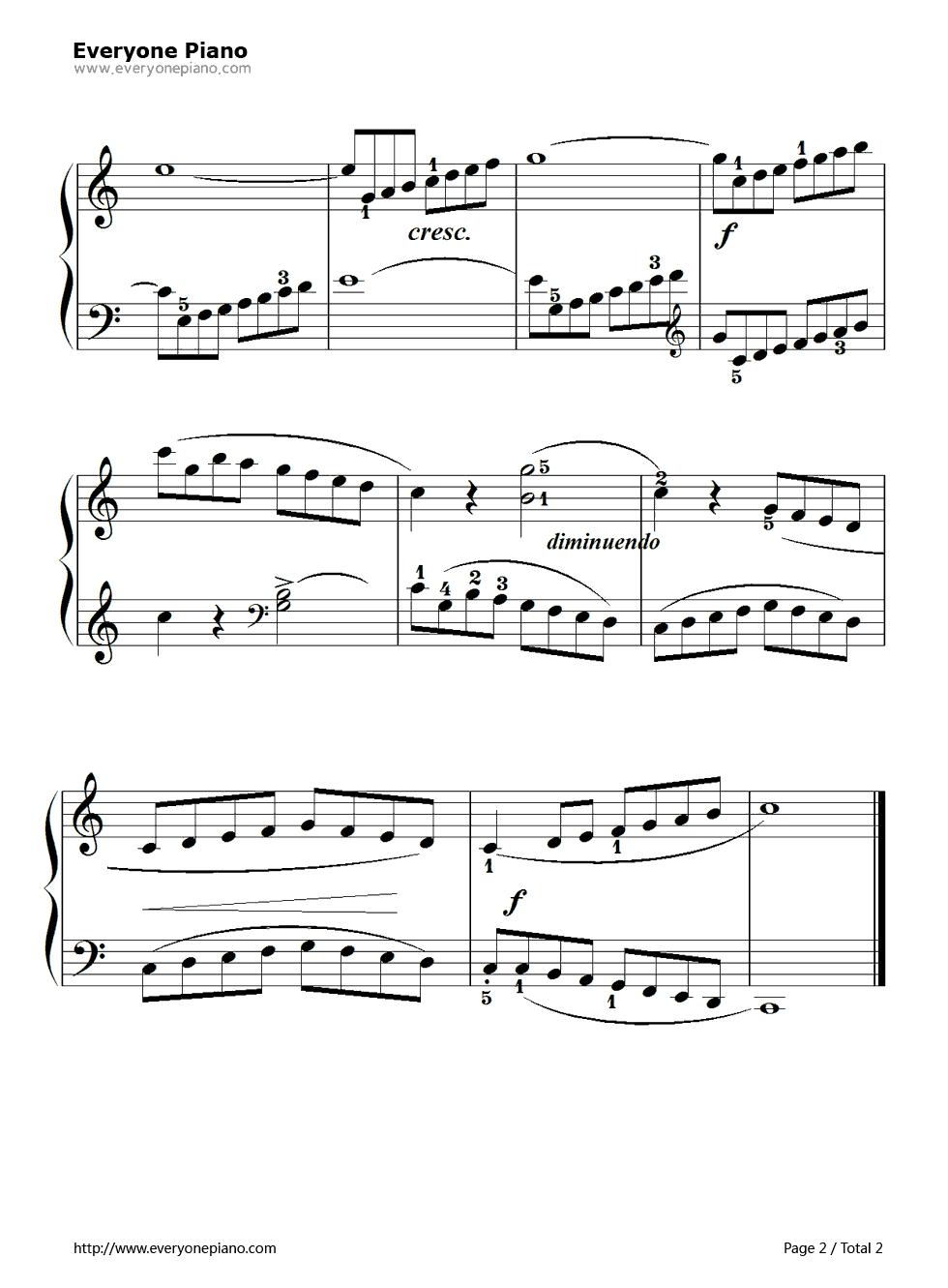 孩子们的拜厄83五线谱预览2-钢琴谱档(五线谱,双手,数图片