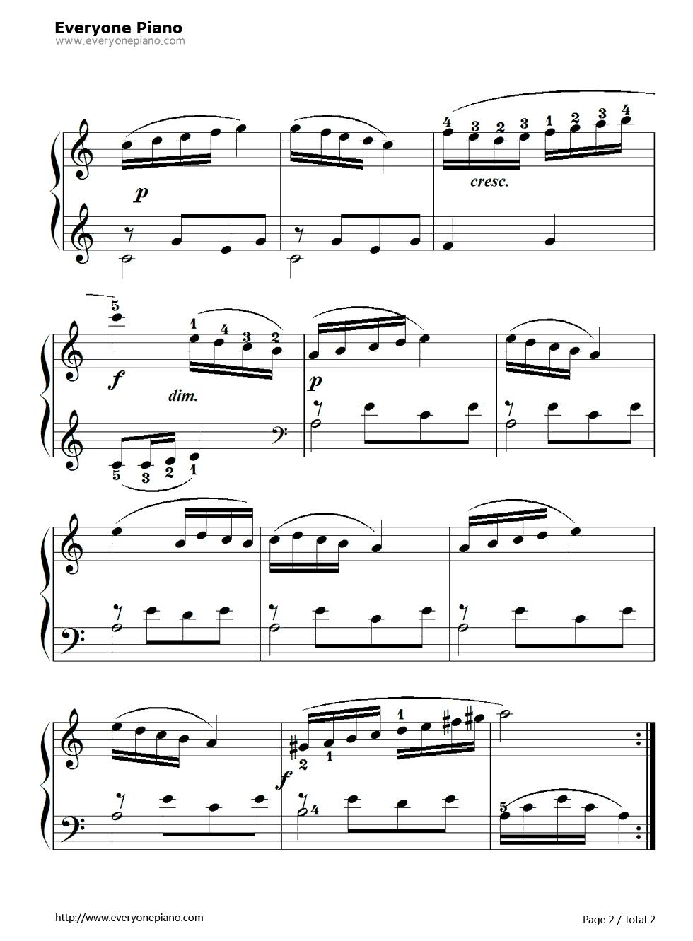 钢琴曲谱 练习曲 孩子们的拜厄91 孩子们的拜厄91五线谱预览2  }图片