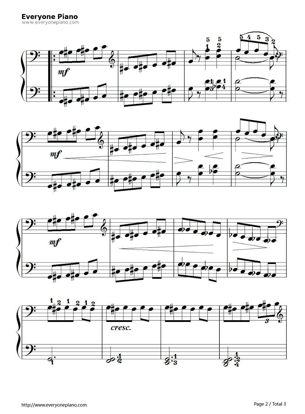 钢琴曲谱 练习曲 孩子们的拜厄106 孩子们的拜厄106五线谱预览2  }