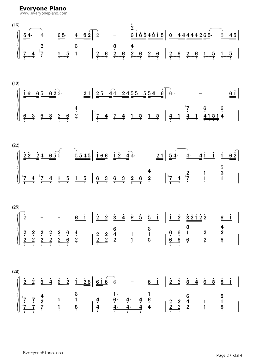 我的好兄弟-小沈阳(成龙演唱会版)双手简谱预览2