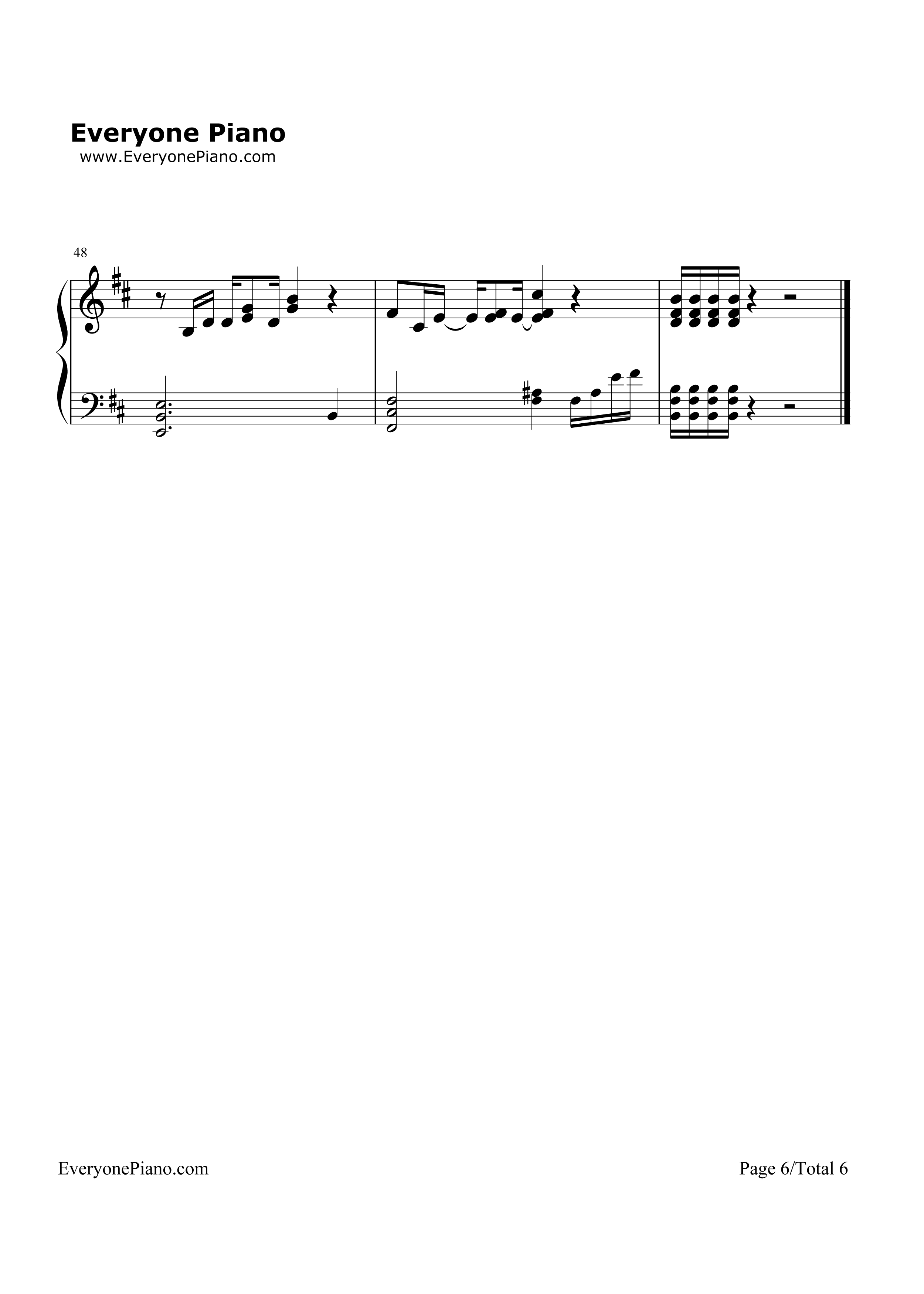 钢琴曲谱 经典 加州旅馆(hotel california) 加州旅馆(hotel californ