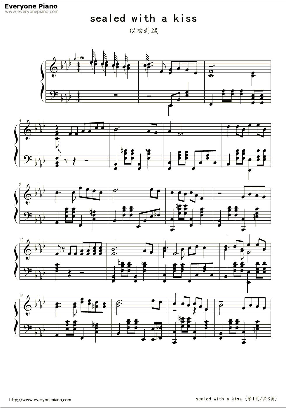 钢琴曲谱 经典