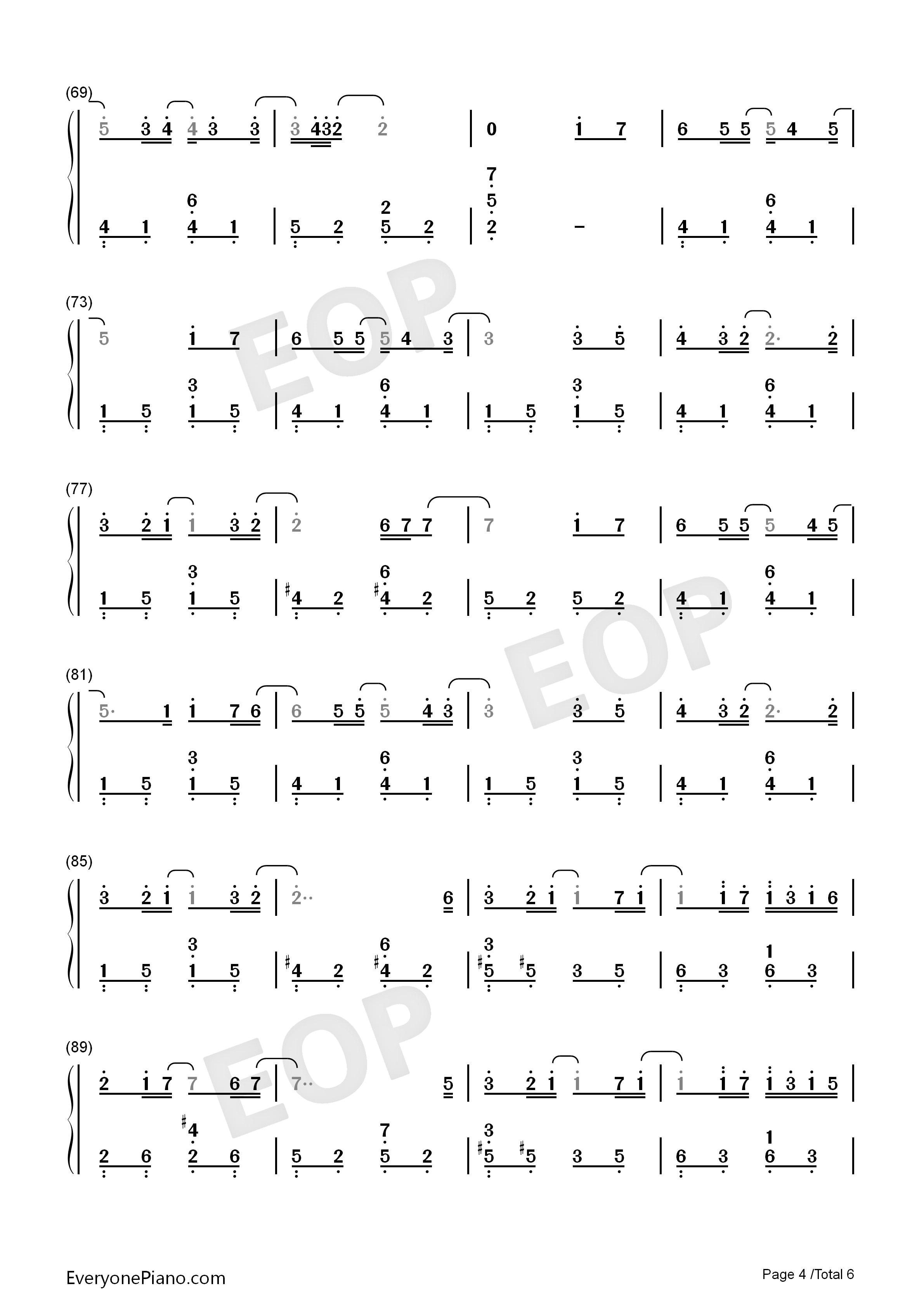 my love-西城男孩双手简谱预览4-钢琴谱档(五线谱,,数