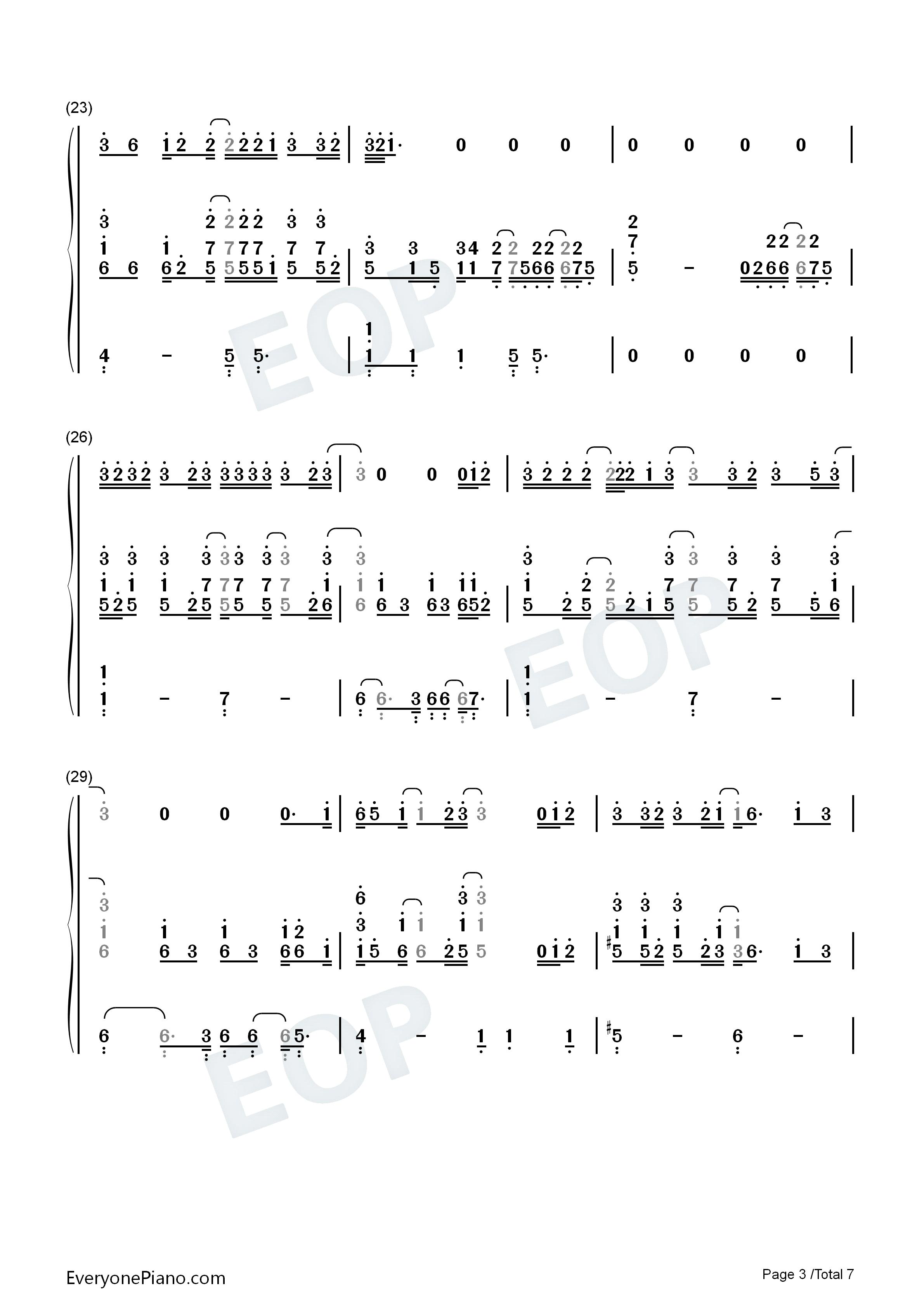 尼尔 波特双手简谱预览3 钢琴谱档 五线谱 双手简谱 数位谱 Midi PDF