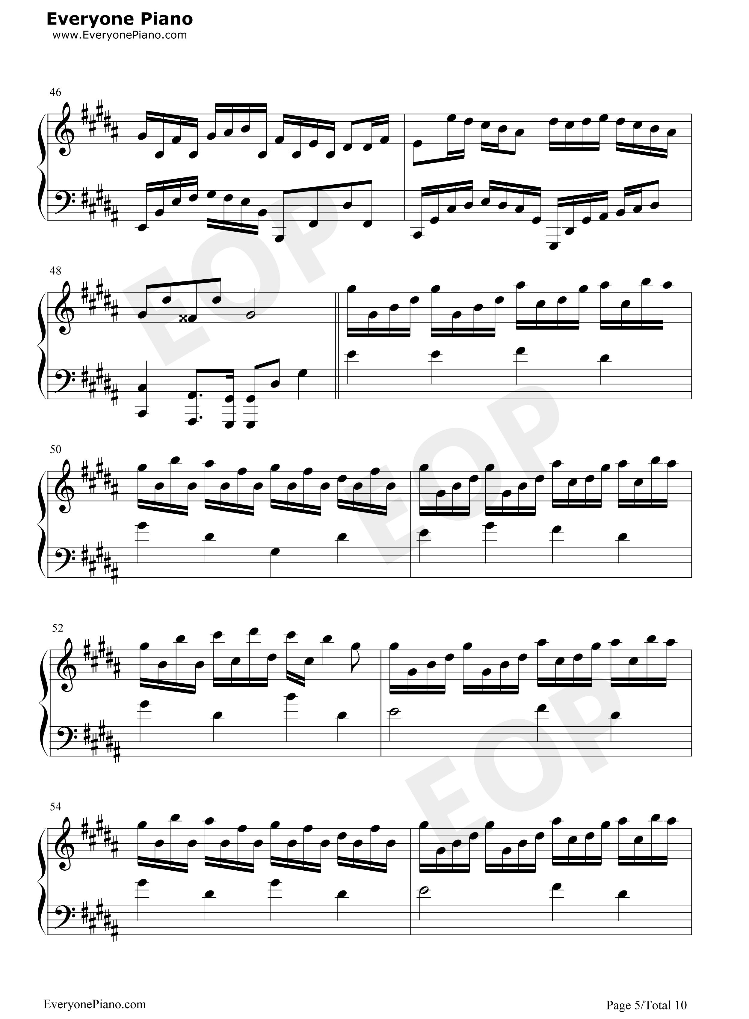 Flower dance 5 midi pdf for Piano dance music 90 s