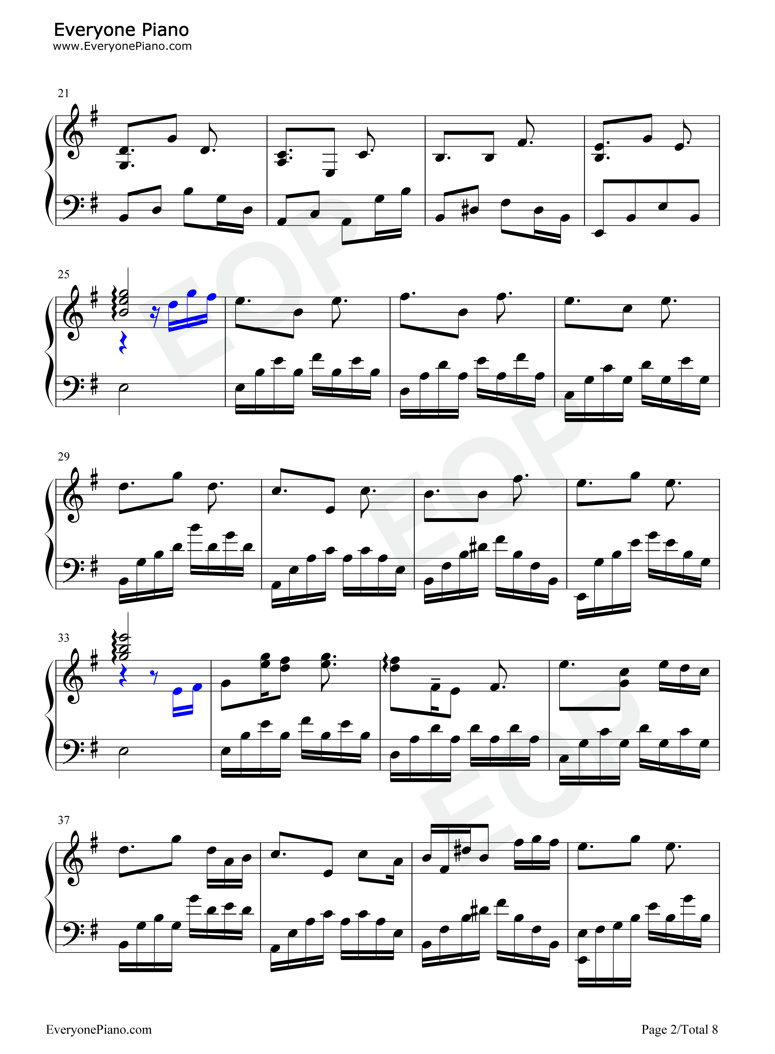 钢琴曲谱 流行 夜曲-周杰伦凄美,华丽版 夜曲-周杰伦凄美,华丽版