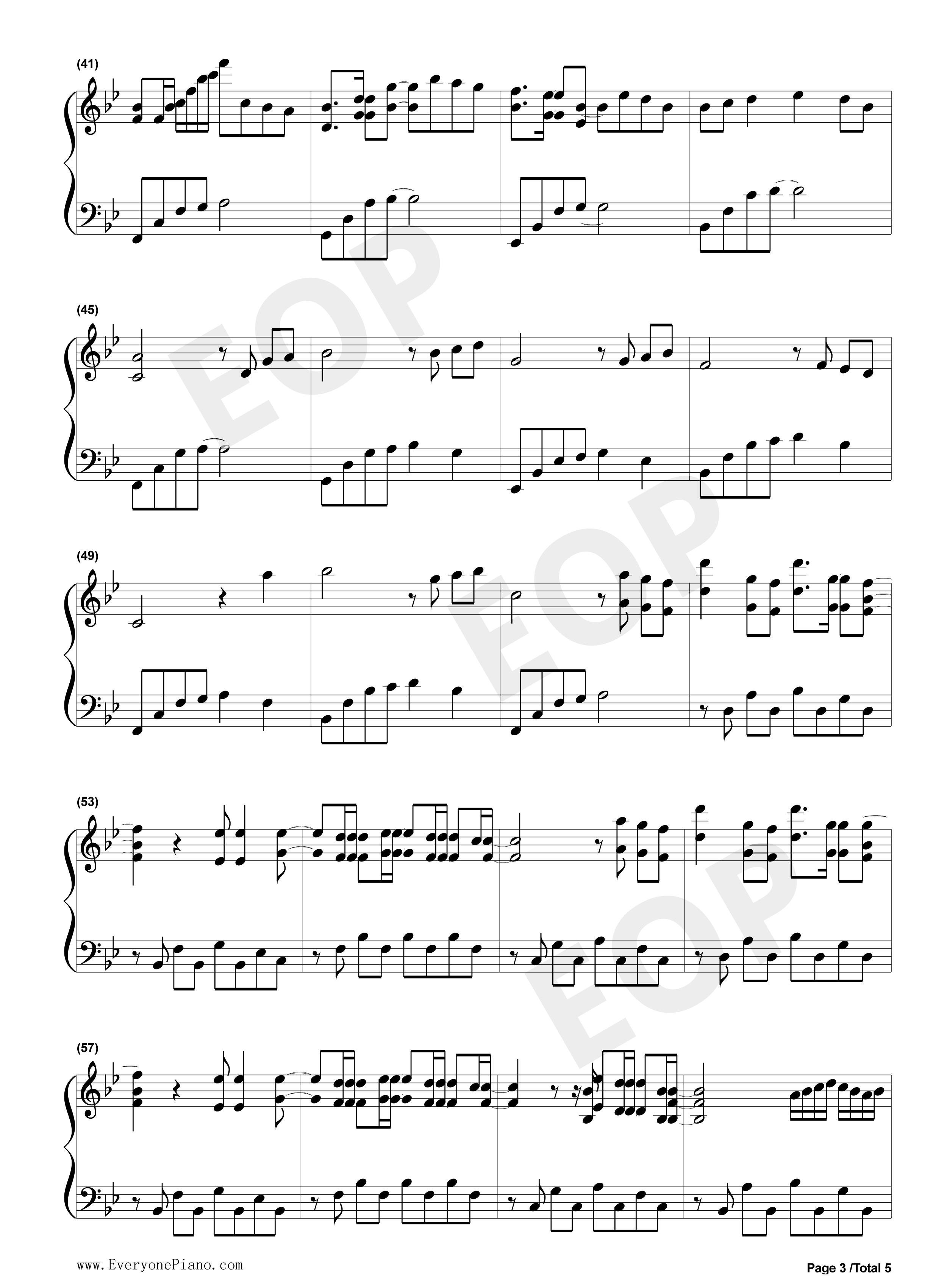 钢琴曲谱 流行 love the