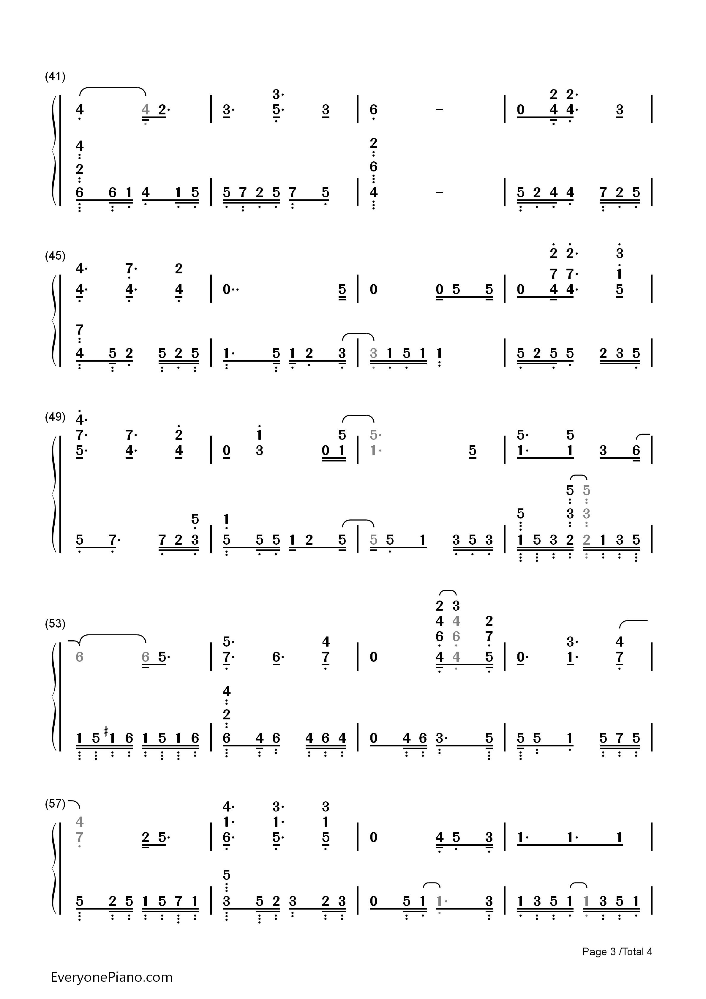 钢琴曲谱 儿歌 哦圣诞树-圣诞歌曲 哦圣诞树-圣诞歌曲双手简谱预览3