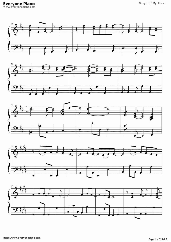 钢琴曲谱 经典 shape of my heart-后街男孩-backstreet boys shape