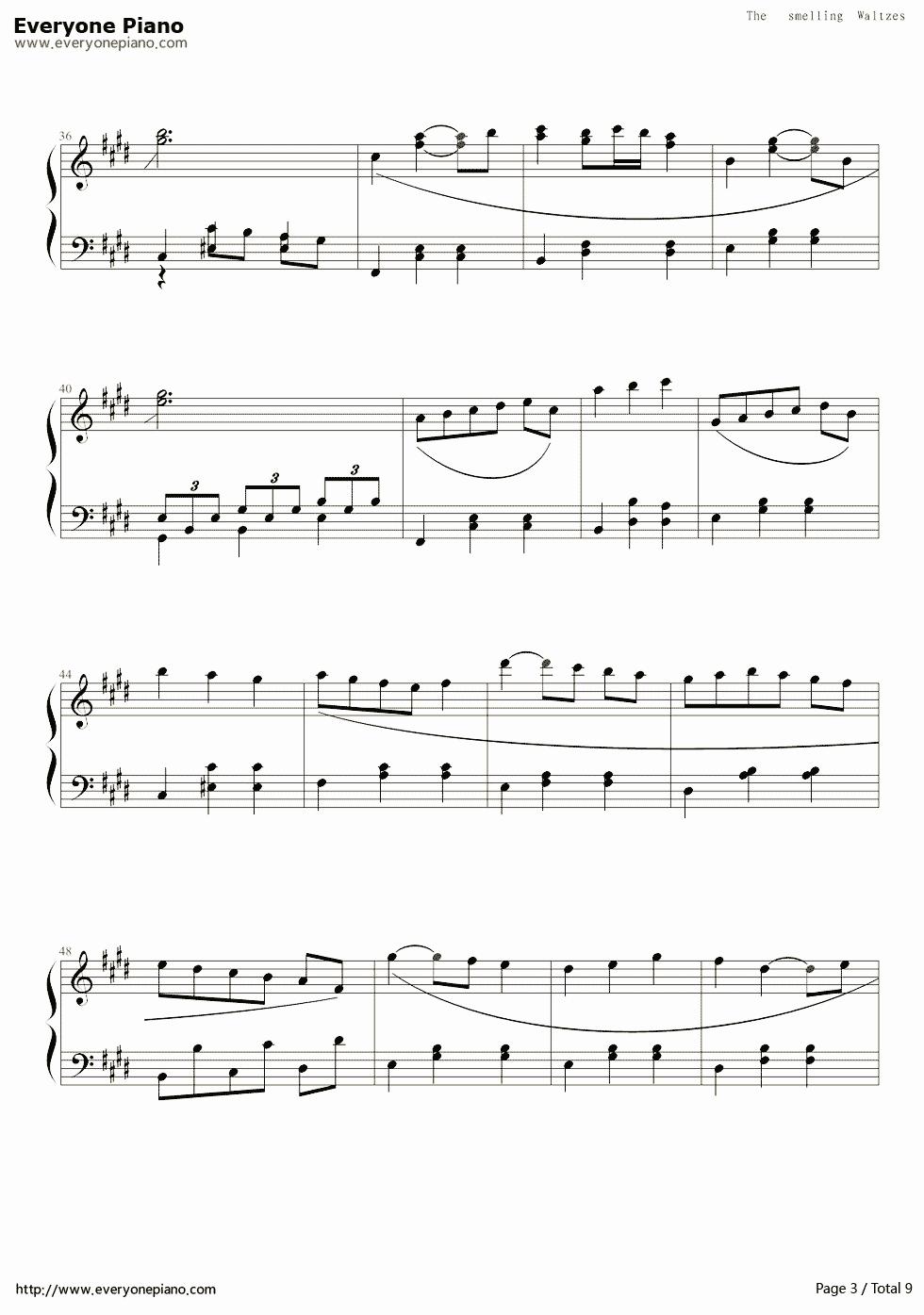 白十字的欢笑-新年圆舞曲五线谱预览3