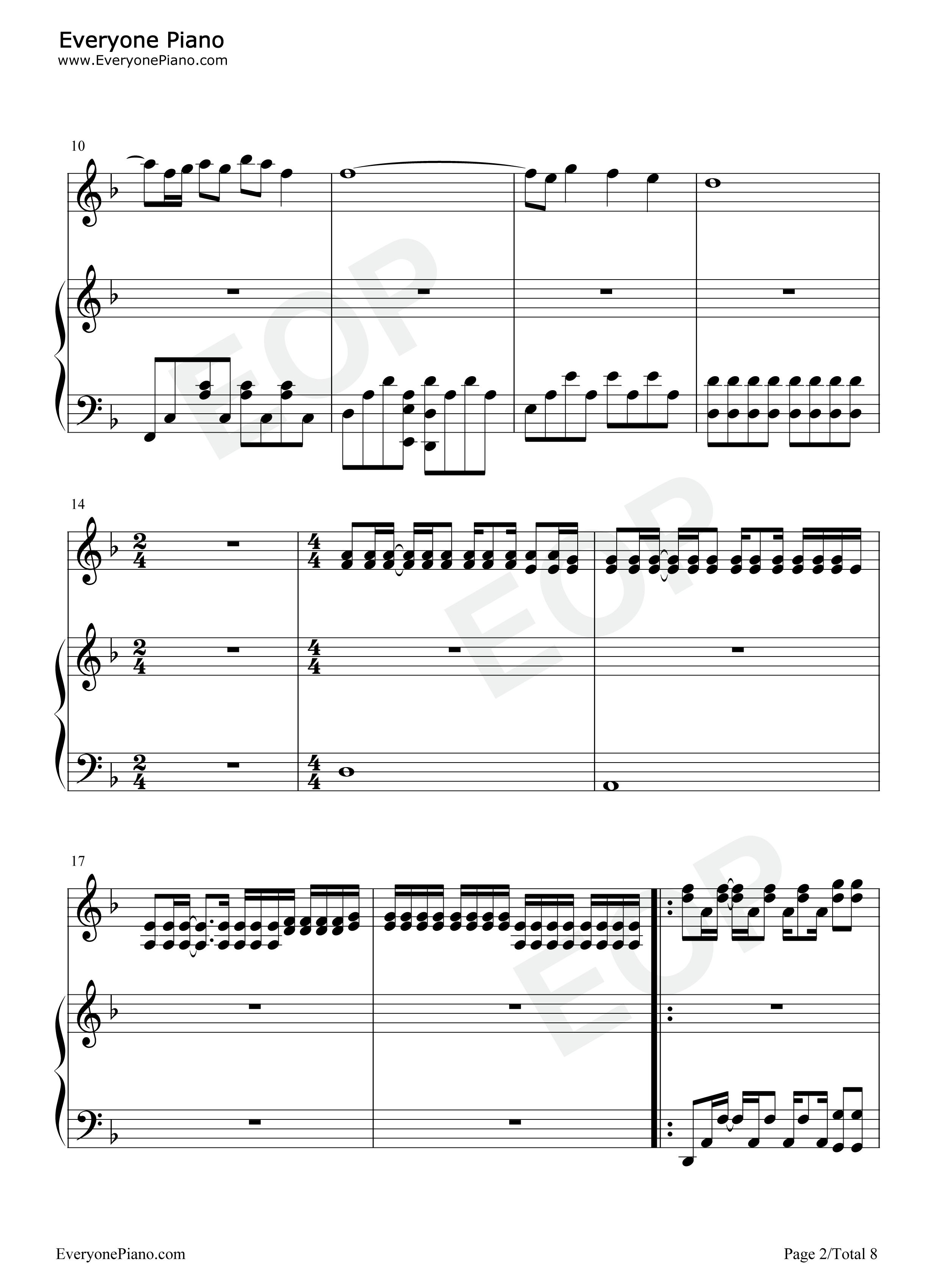 半兽人-周杰伦五线谱预览2