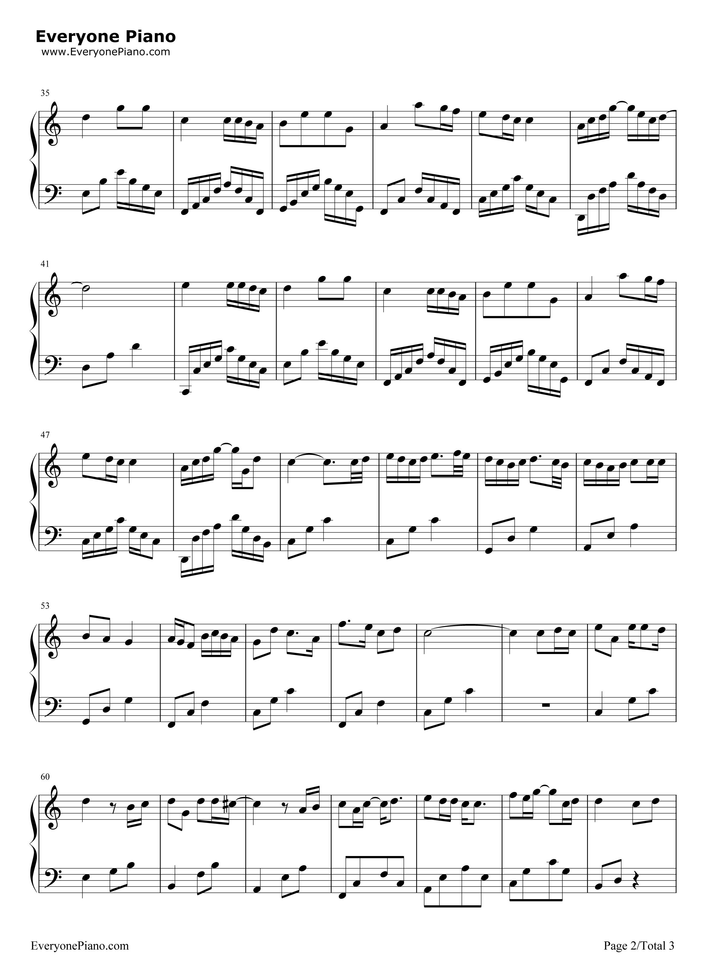 钢琴曲谱 流行 小星星-汪苏泷 小星星-汪苏泷五线谱预览2  }  仅供