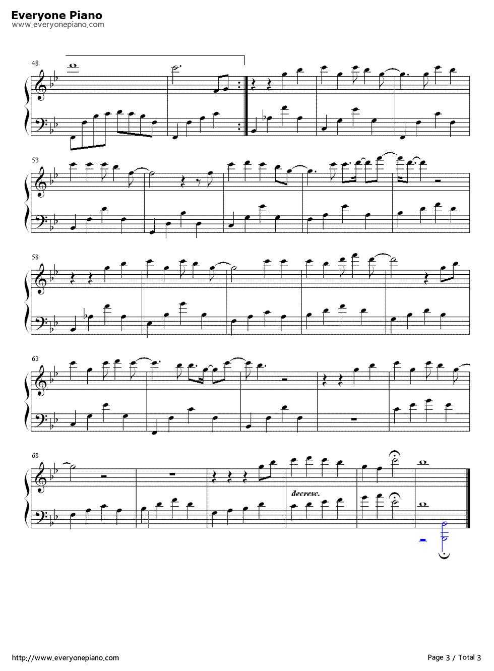 稳稳的幸福-陈奕迅五线谱预览3-钢琴谱档(五线谱,双手