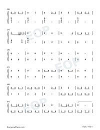 萤火虫之舞钢琴独奏双手简谱预览4