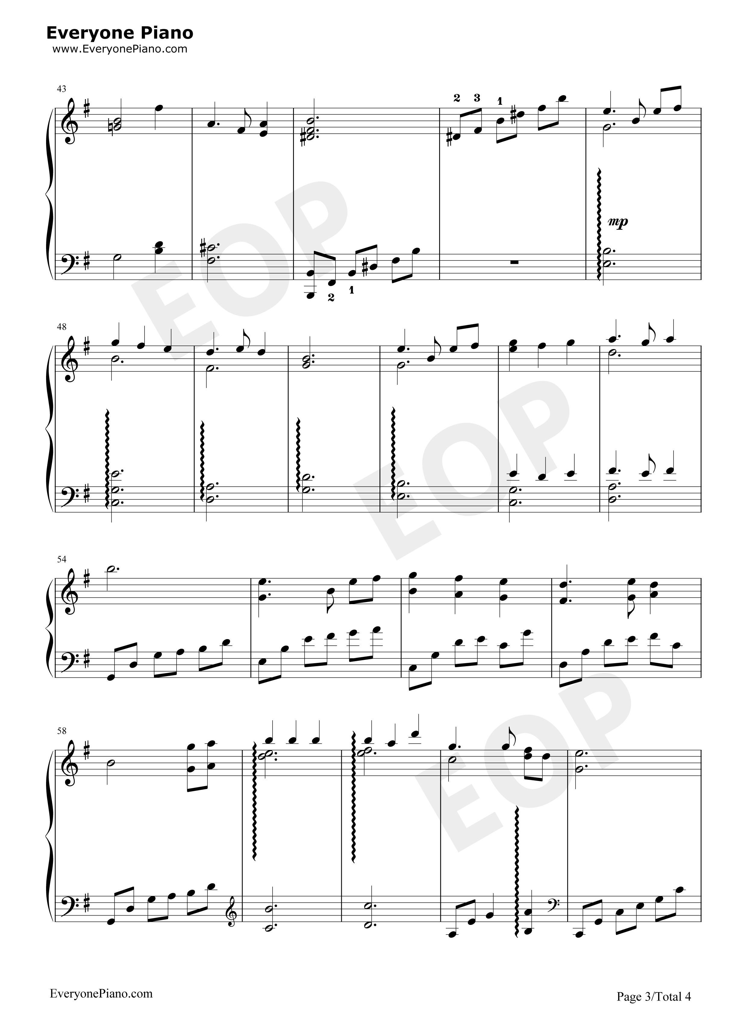 钢琴曲谱 动漫 to zanarkand-最终幻想10插曲 to zanarkand-最终幻想