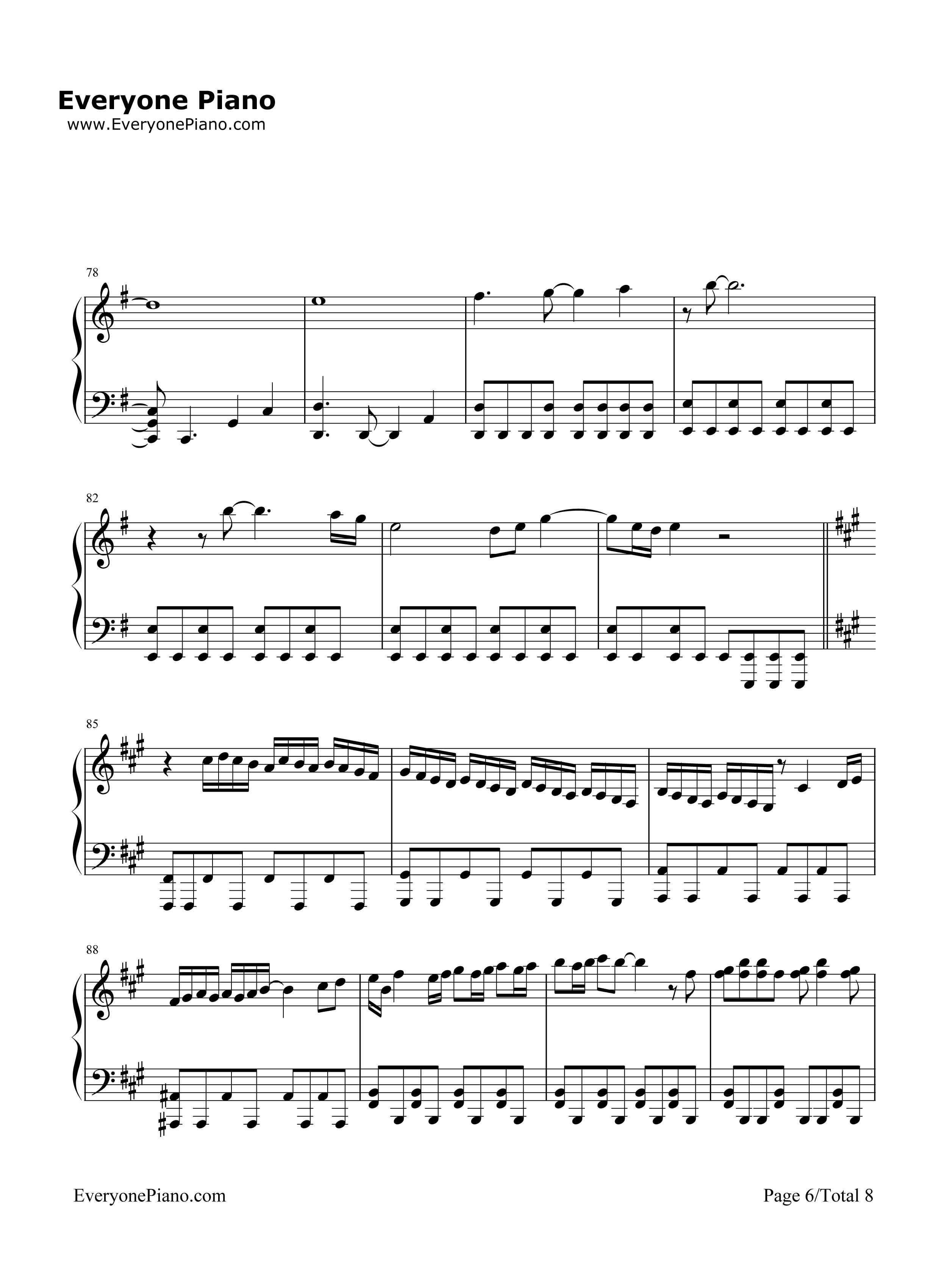冒险时间钢琴简谱