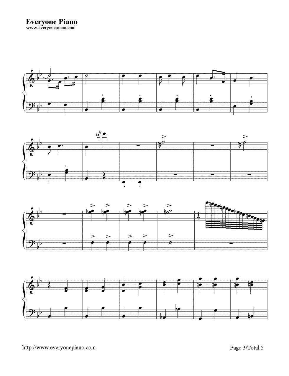 一休哥简谱歌谱-灵的歌 聪明的一休主题曲五线谱预览3