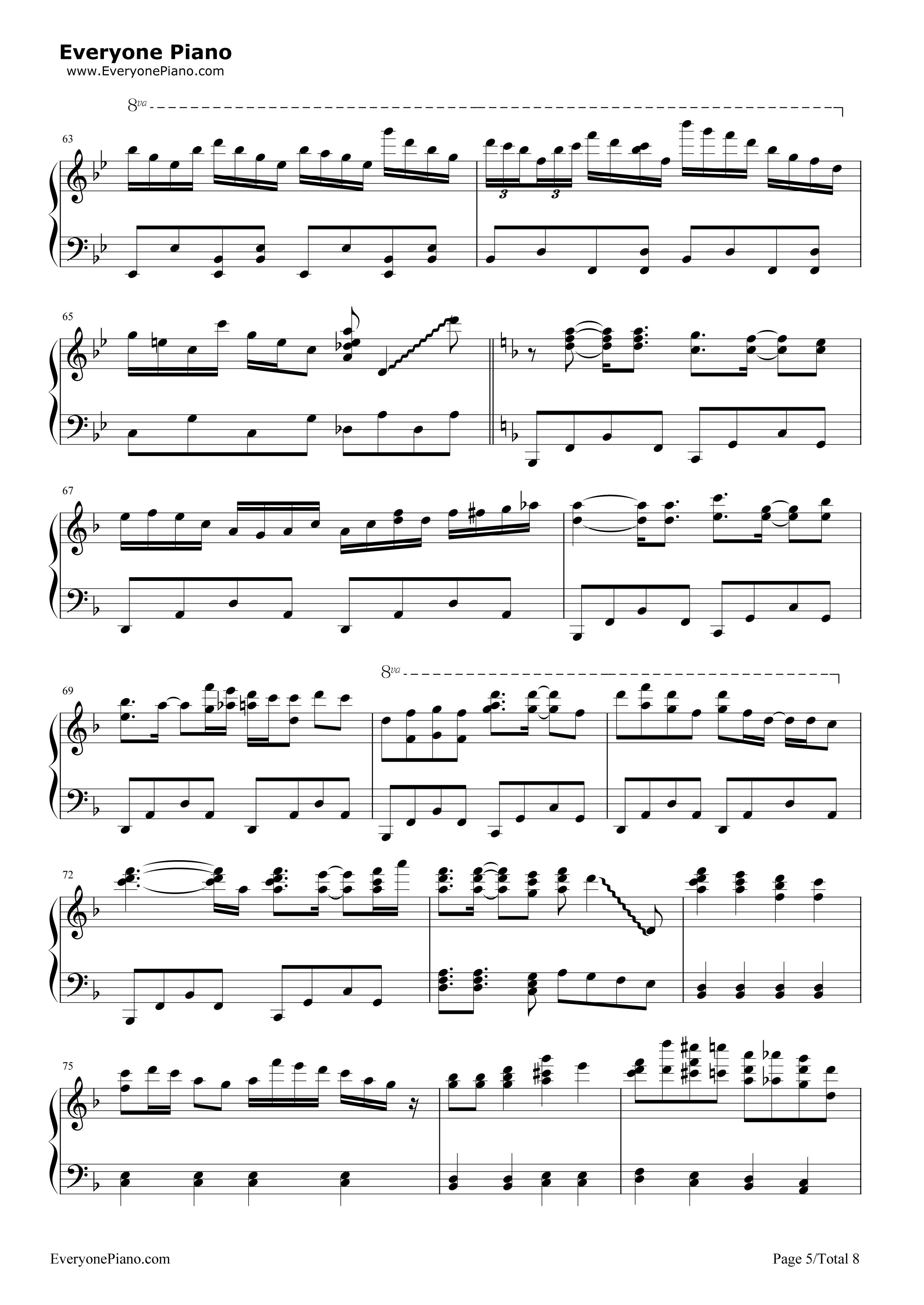 钢琴曲谱 动漫 千本樱-初音未来