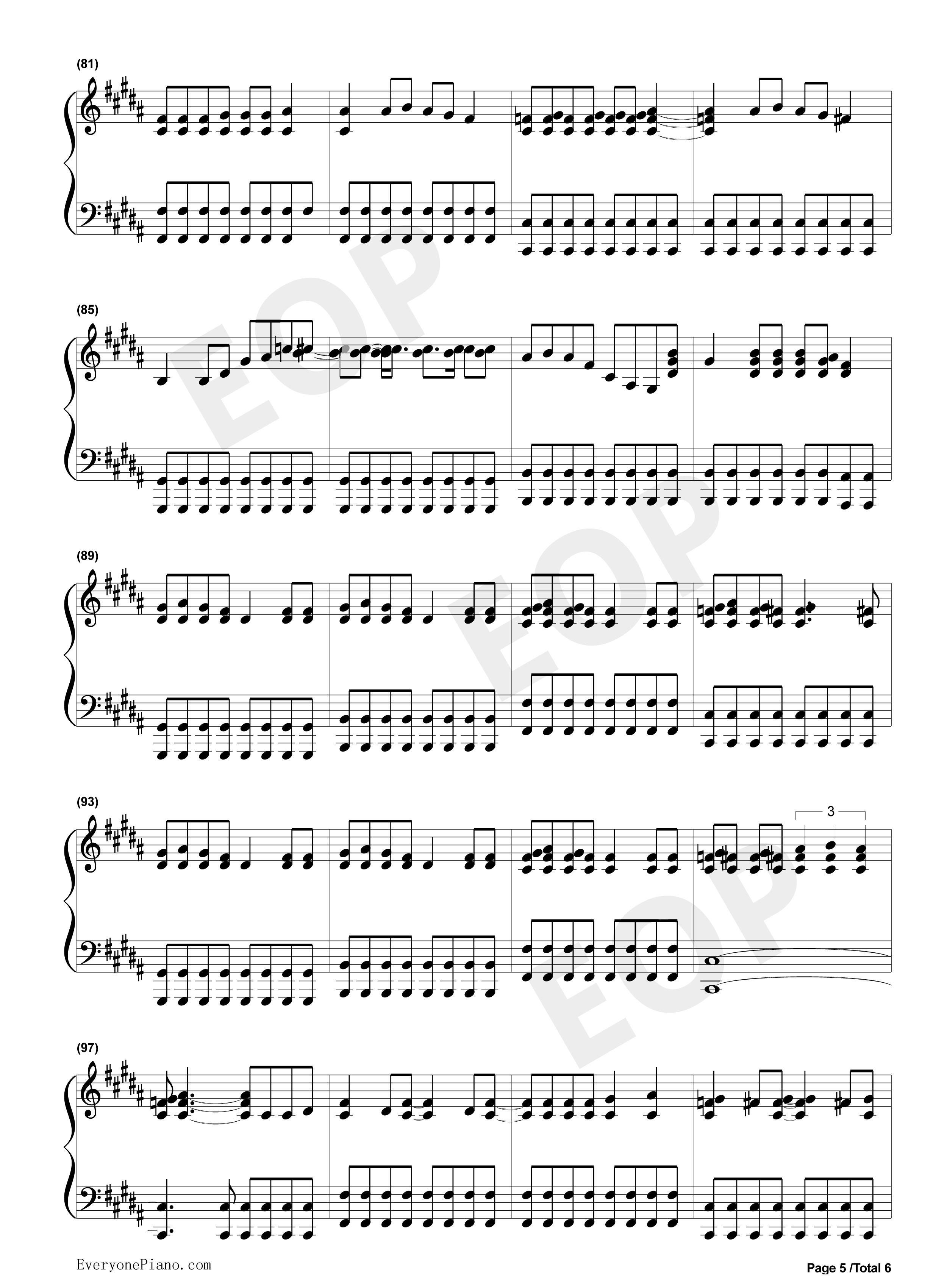 always with me钢琴曲谱完整版
