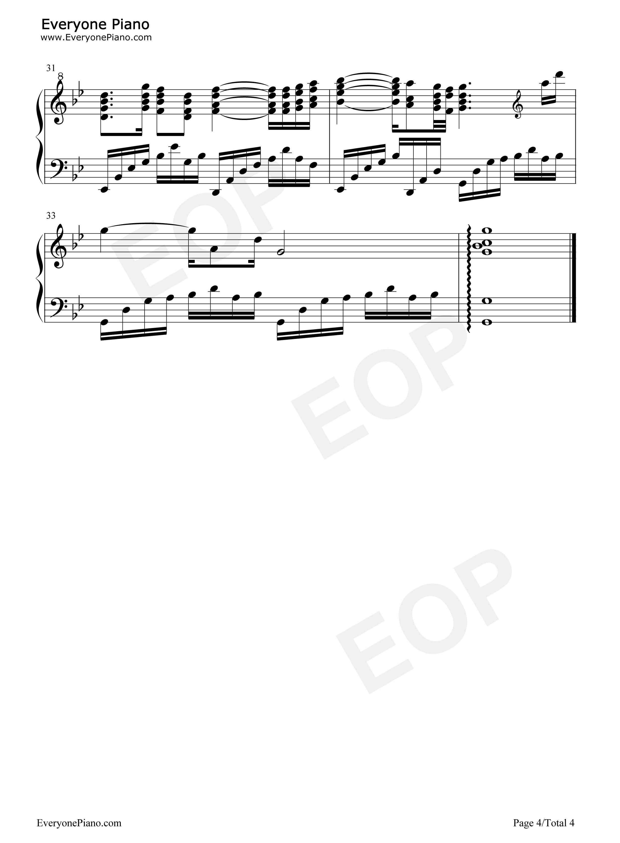 雪千寻 钢琴谱