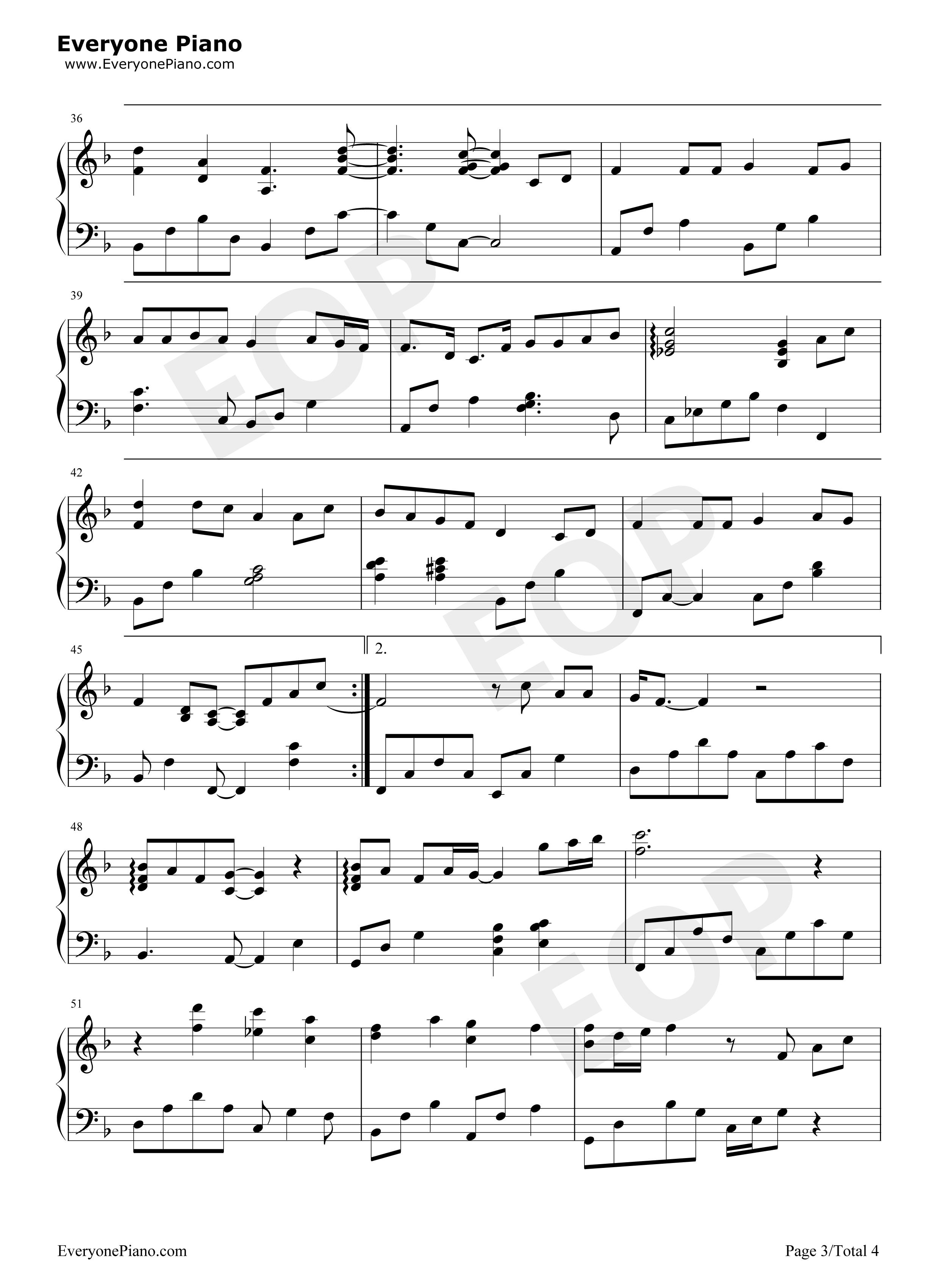 一首简单的歌-王力宏五线谱预览3
