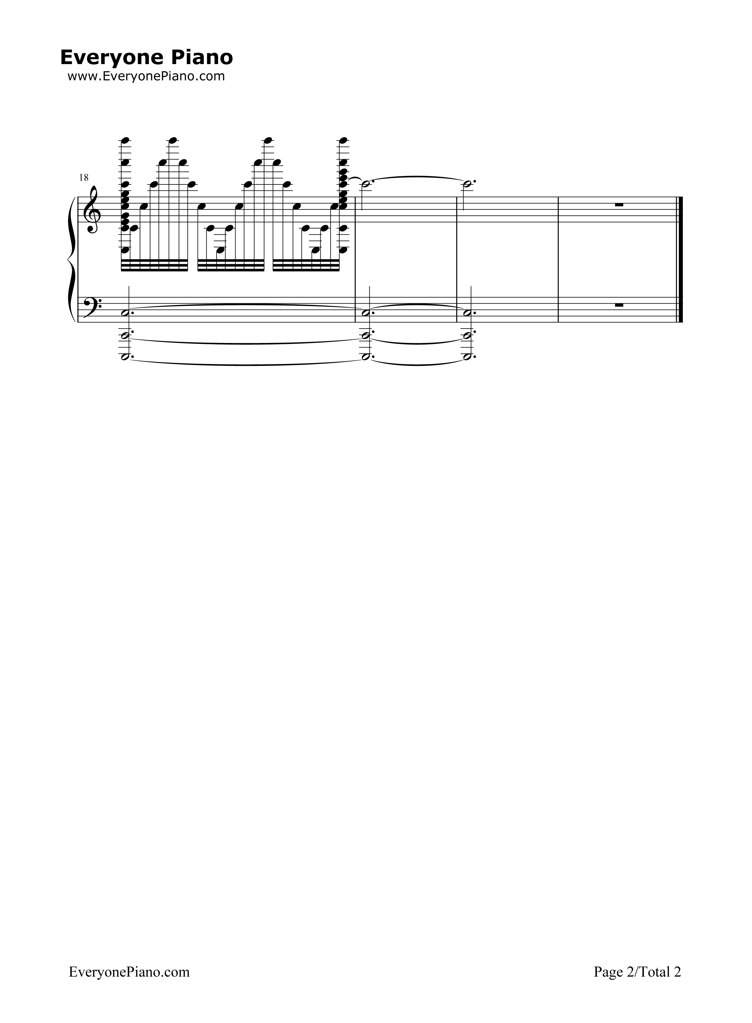 钢琴曲谱 流行 生日快乐疯狂变奏曲 生日快乐疯狂变奏曲五线谱预览2