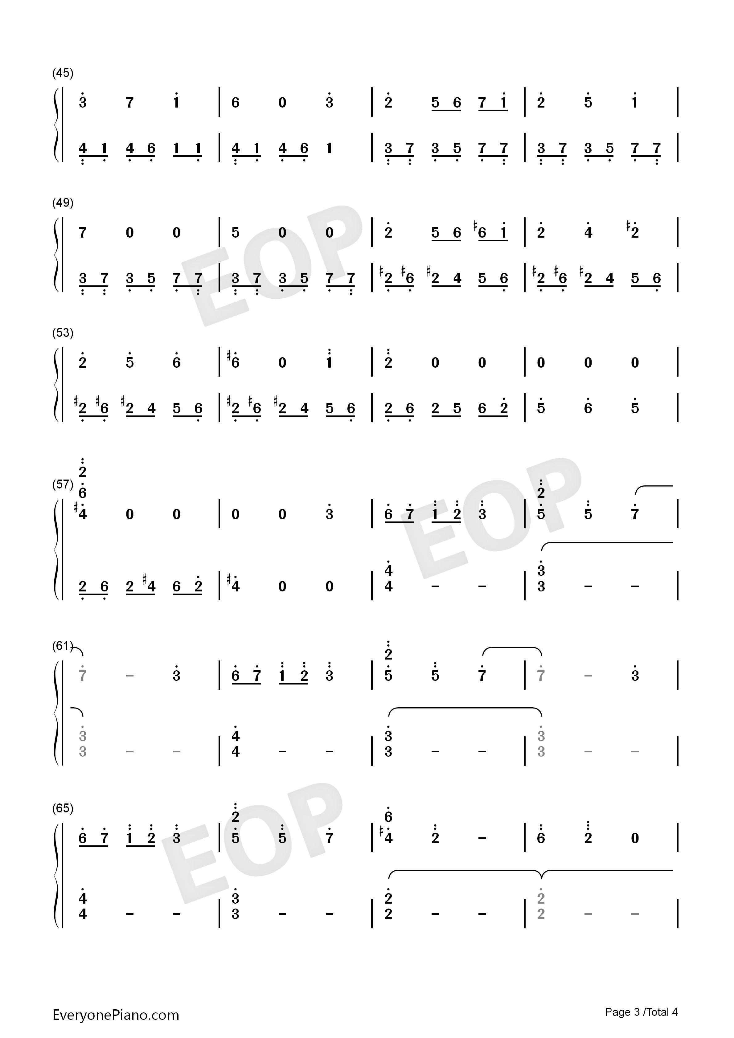 游戏音乐双手简谱
