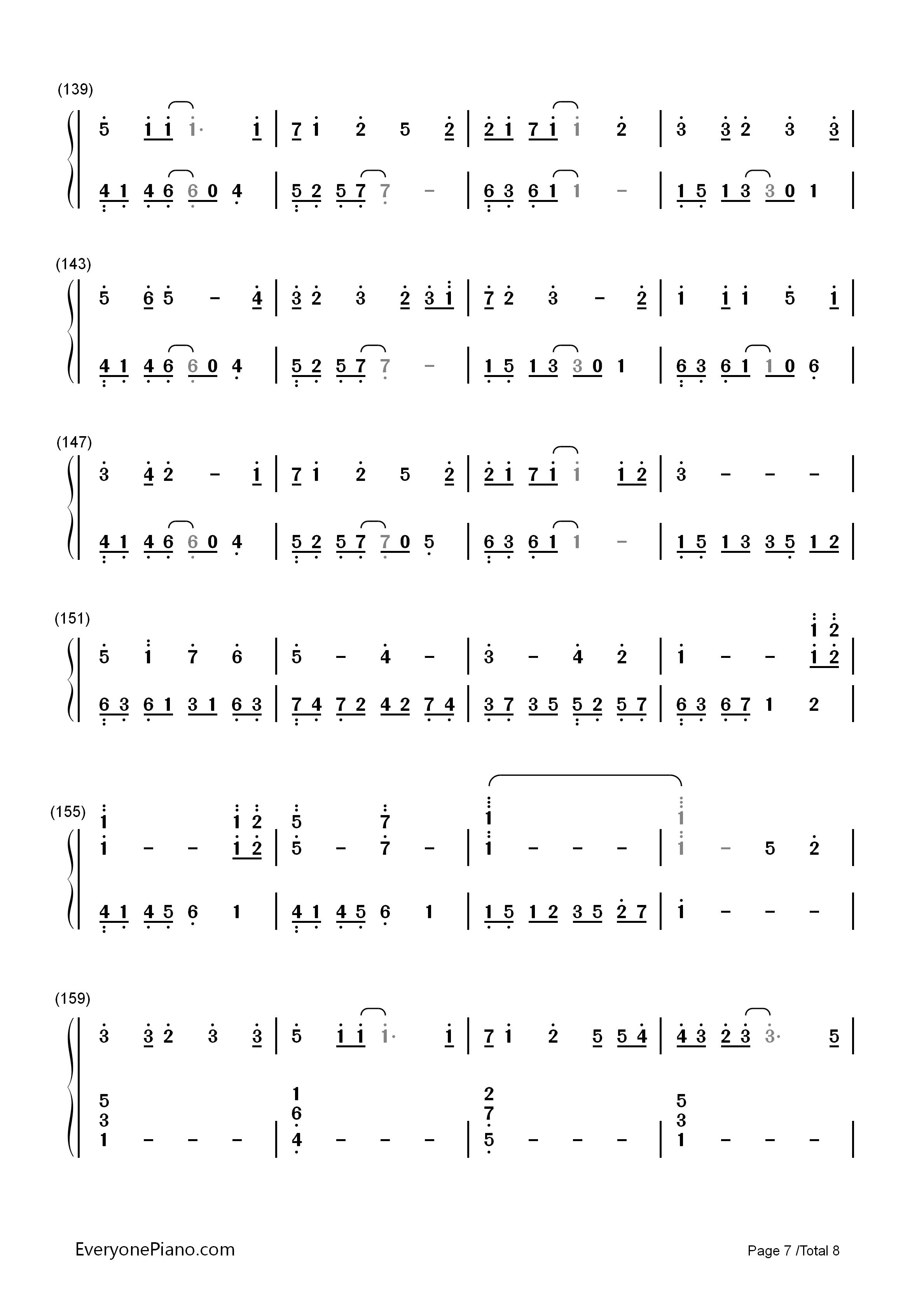 钢琴曲谱 动漫 letter song-致十年后的我-初音ミク letter song-致十
