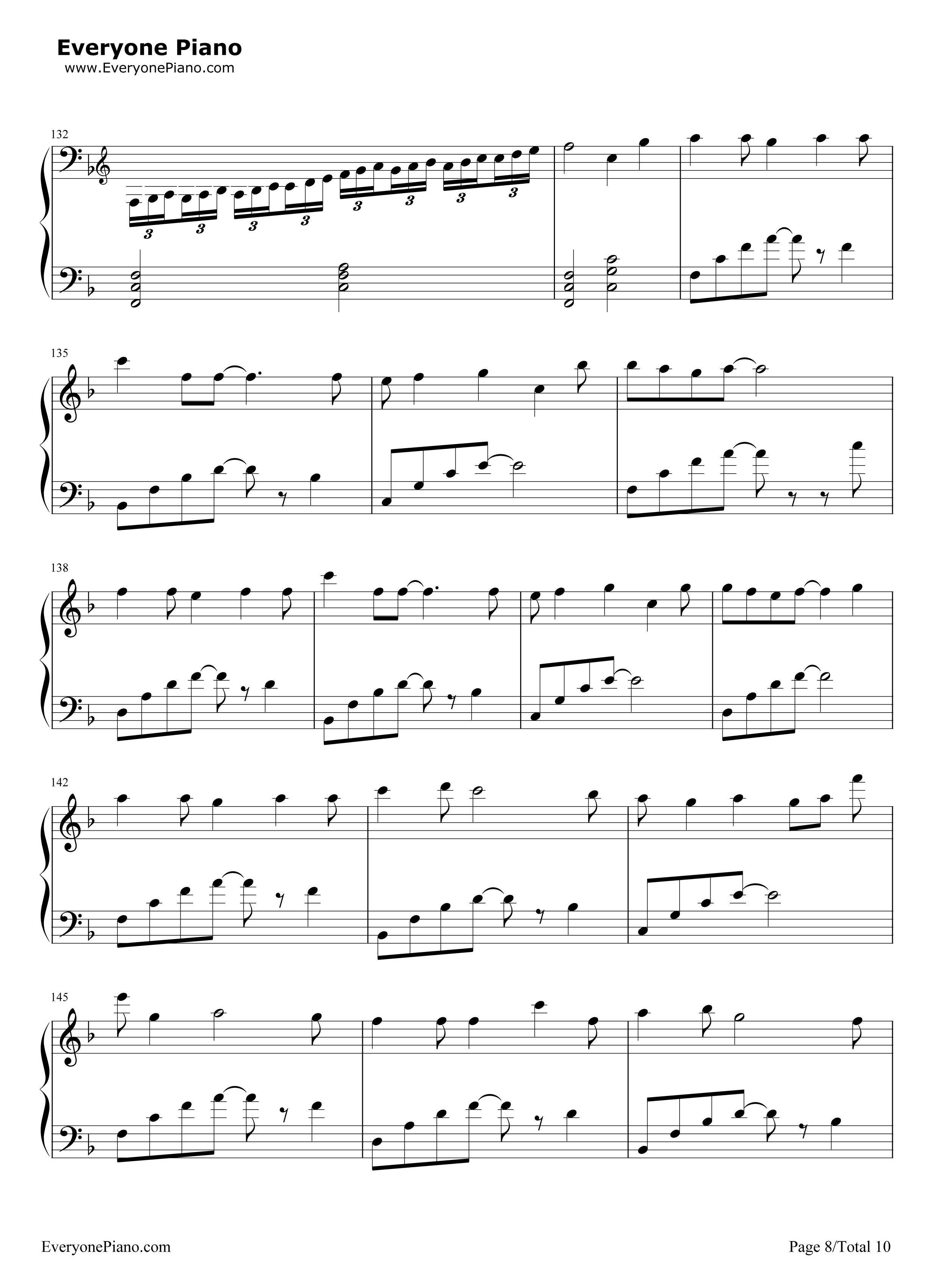 letter song-致十年后的我-初音ミク五线谱预览8