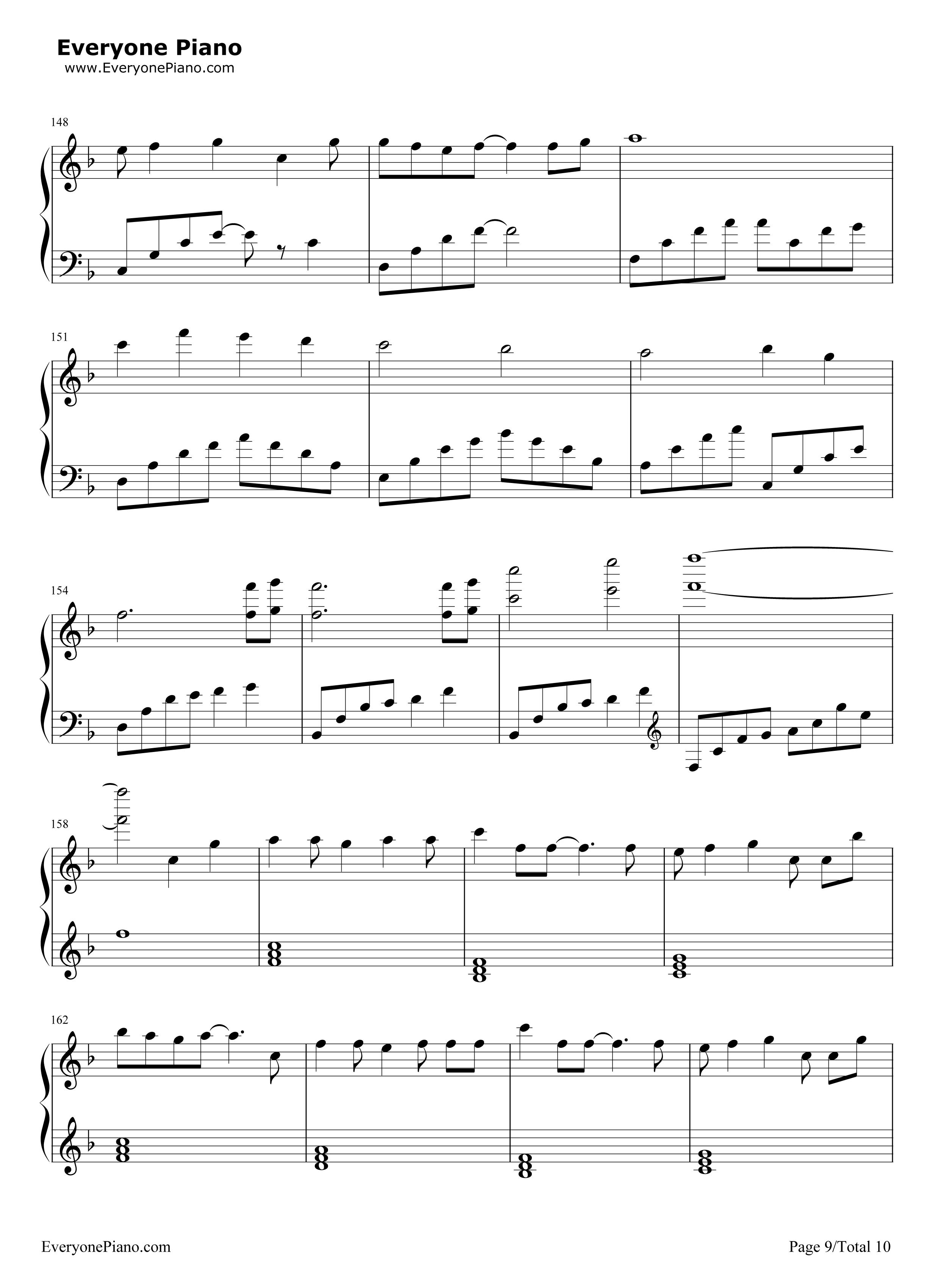 钢琴曲谱 动漫 letter song-致十年后的我-初音ミク letter song-致十图片