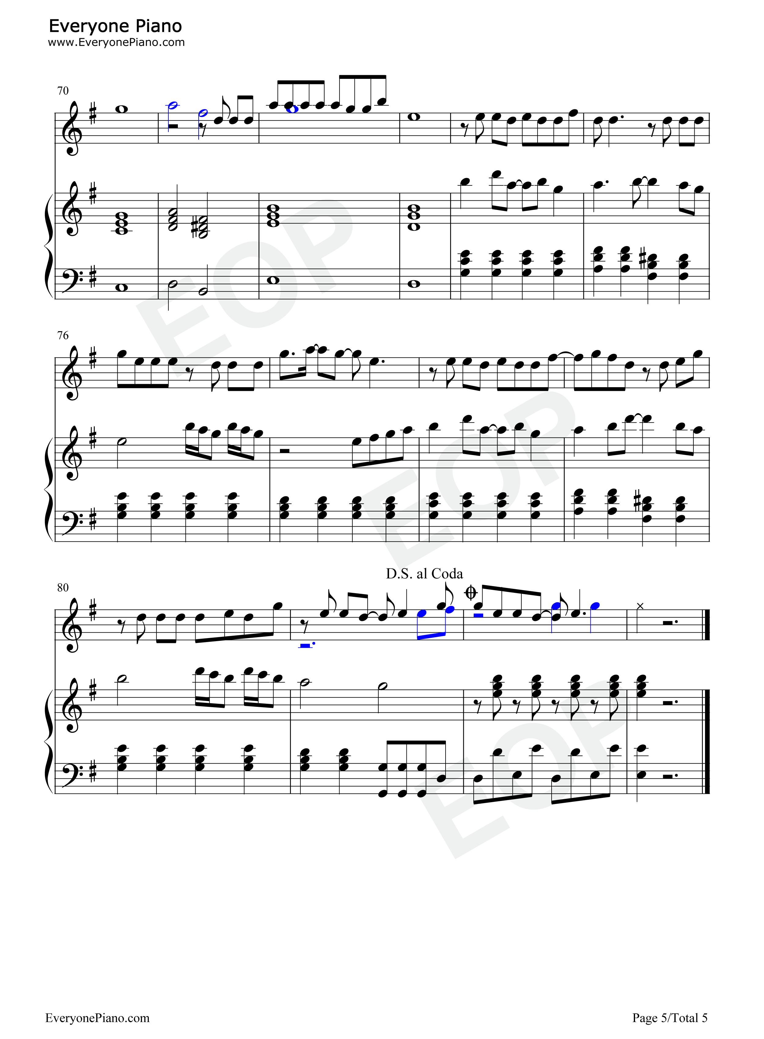 钢琴曲谱 流行 谎言-伴奏版-bigbang-eop教学曲 谎言-伴奏版-bigbang