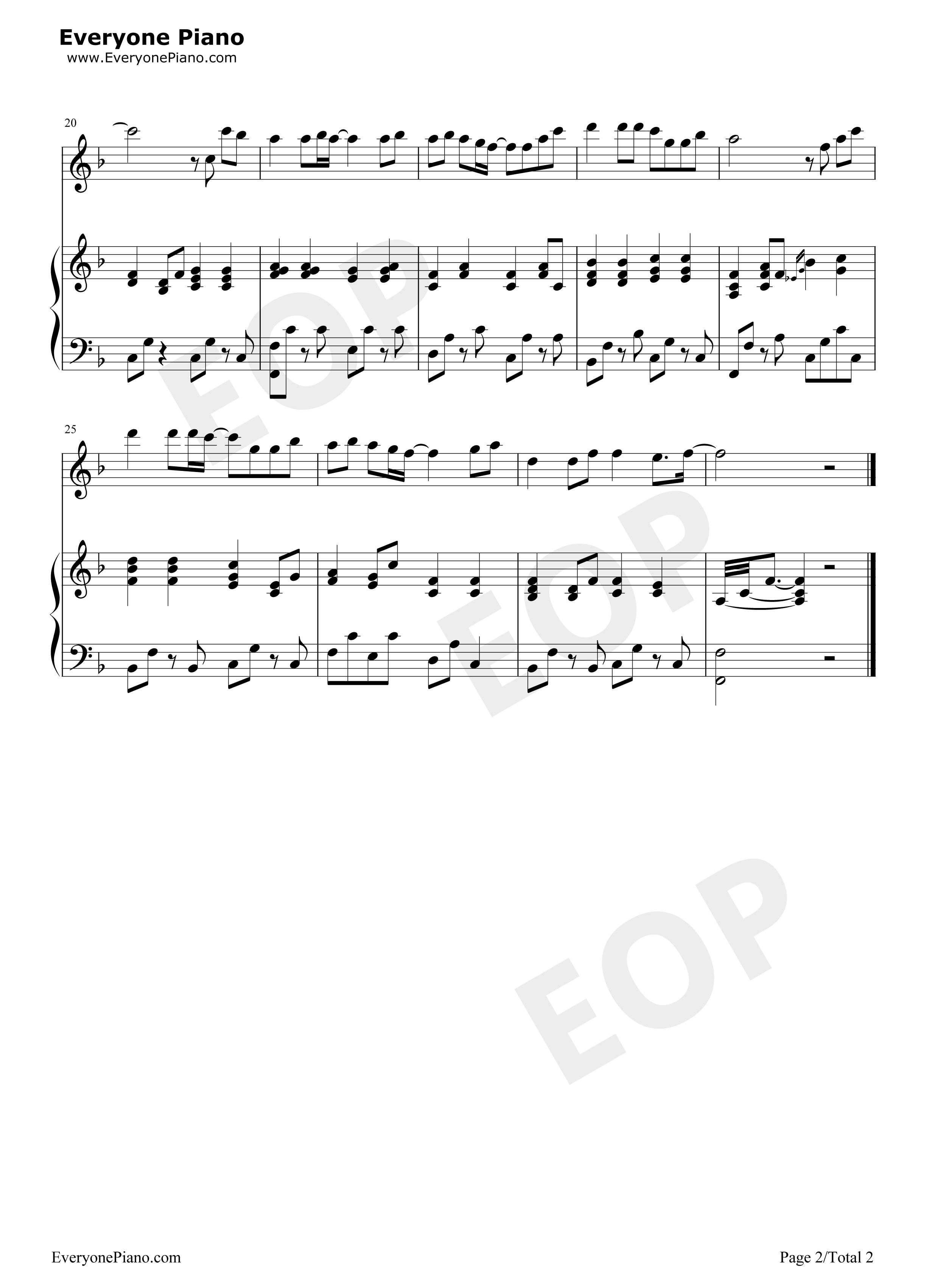 钢琴曲谱 流行 童话弹唱版伴奏-eop教学曲-光良 童话弹唱版伴奏-eop教