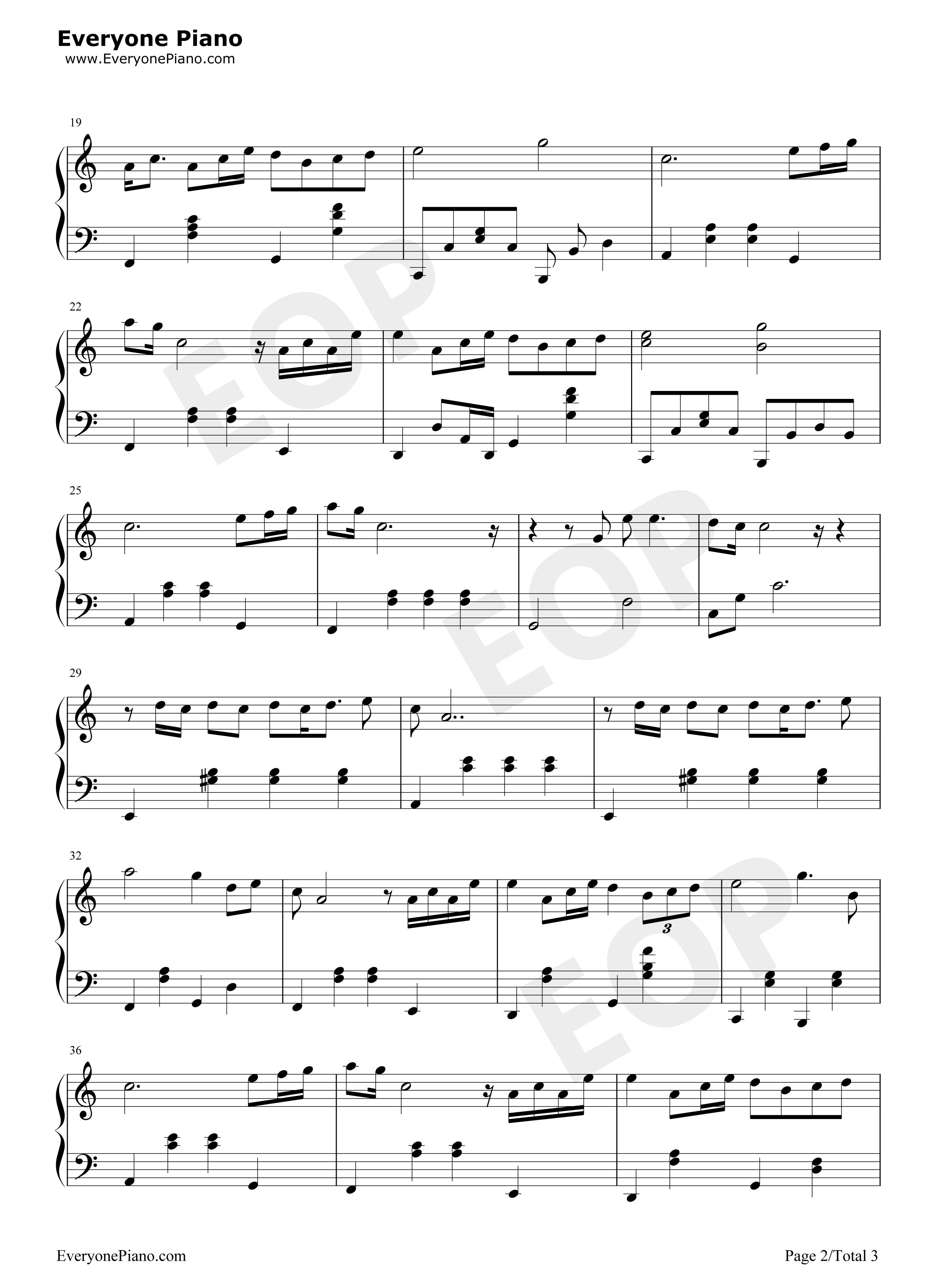 爱很简单-陶喆五线谱预览2-钢琴谱档(五线谱,双手简谱