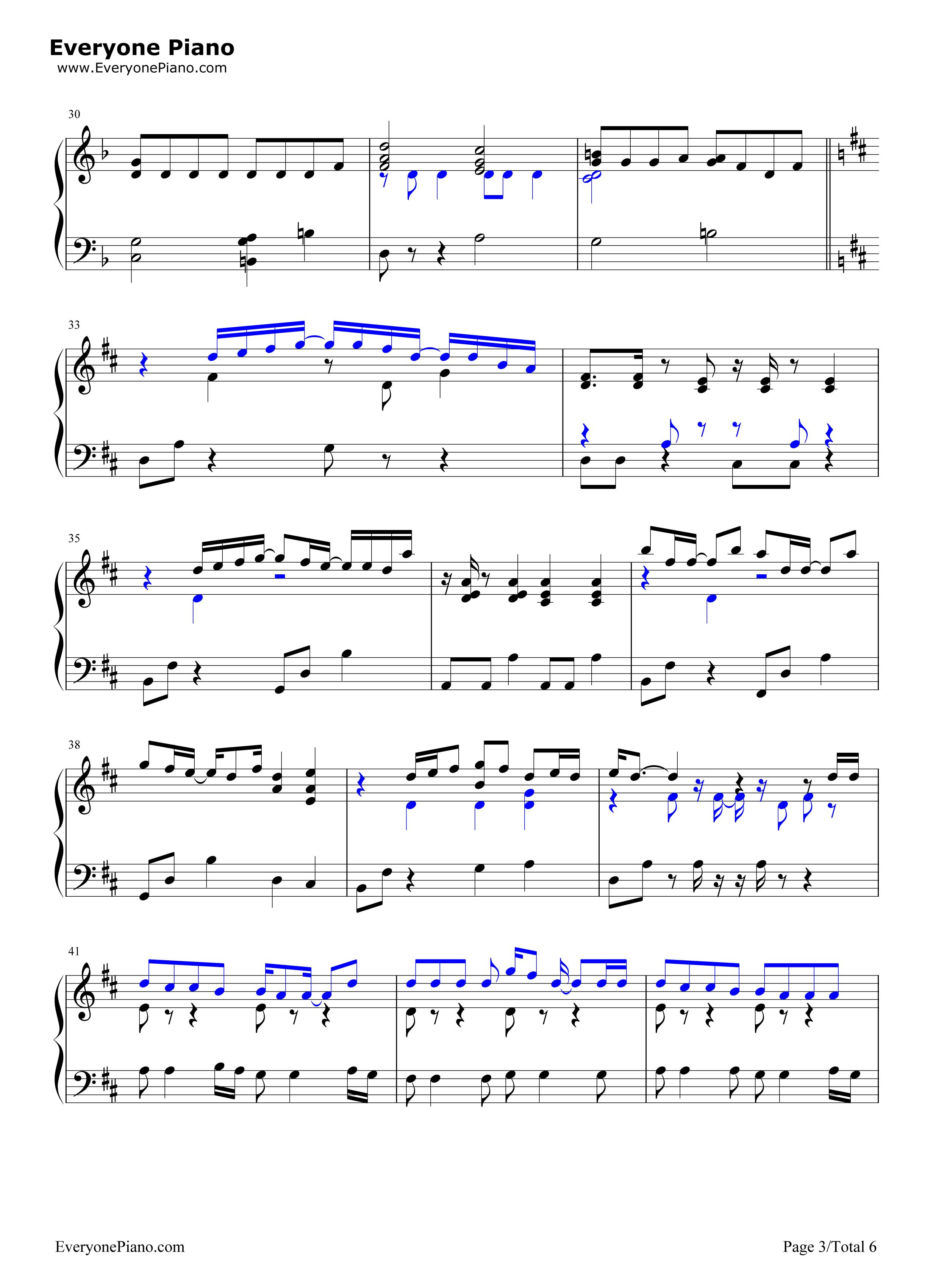 always-名侦探柯南剧场版主题曲五线谱预览3-钢琴谱档
