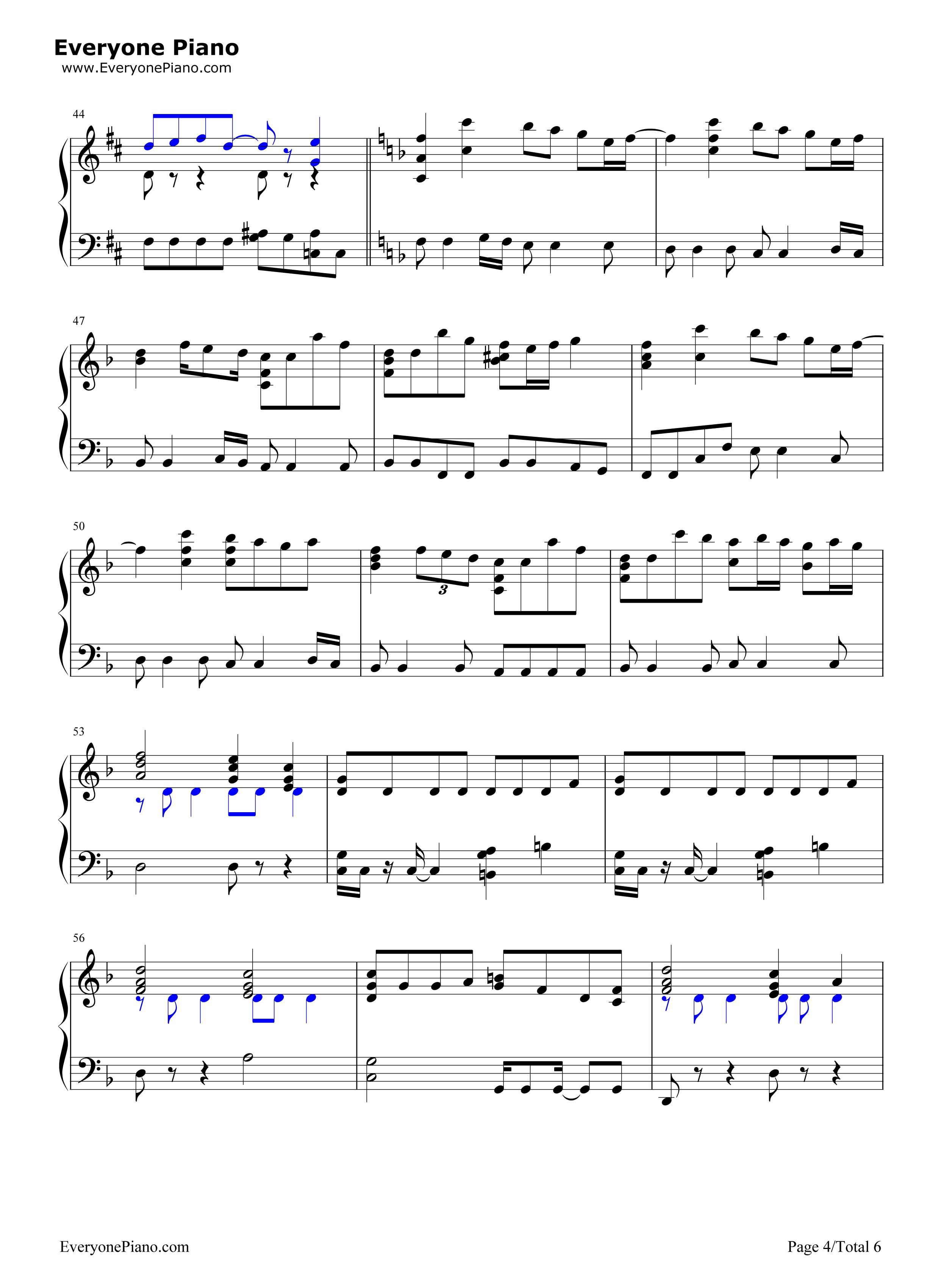 always-名侦探柯南剧场版主题曲五线谱预览4-钢琴谱档