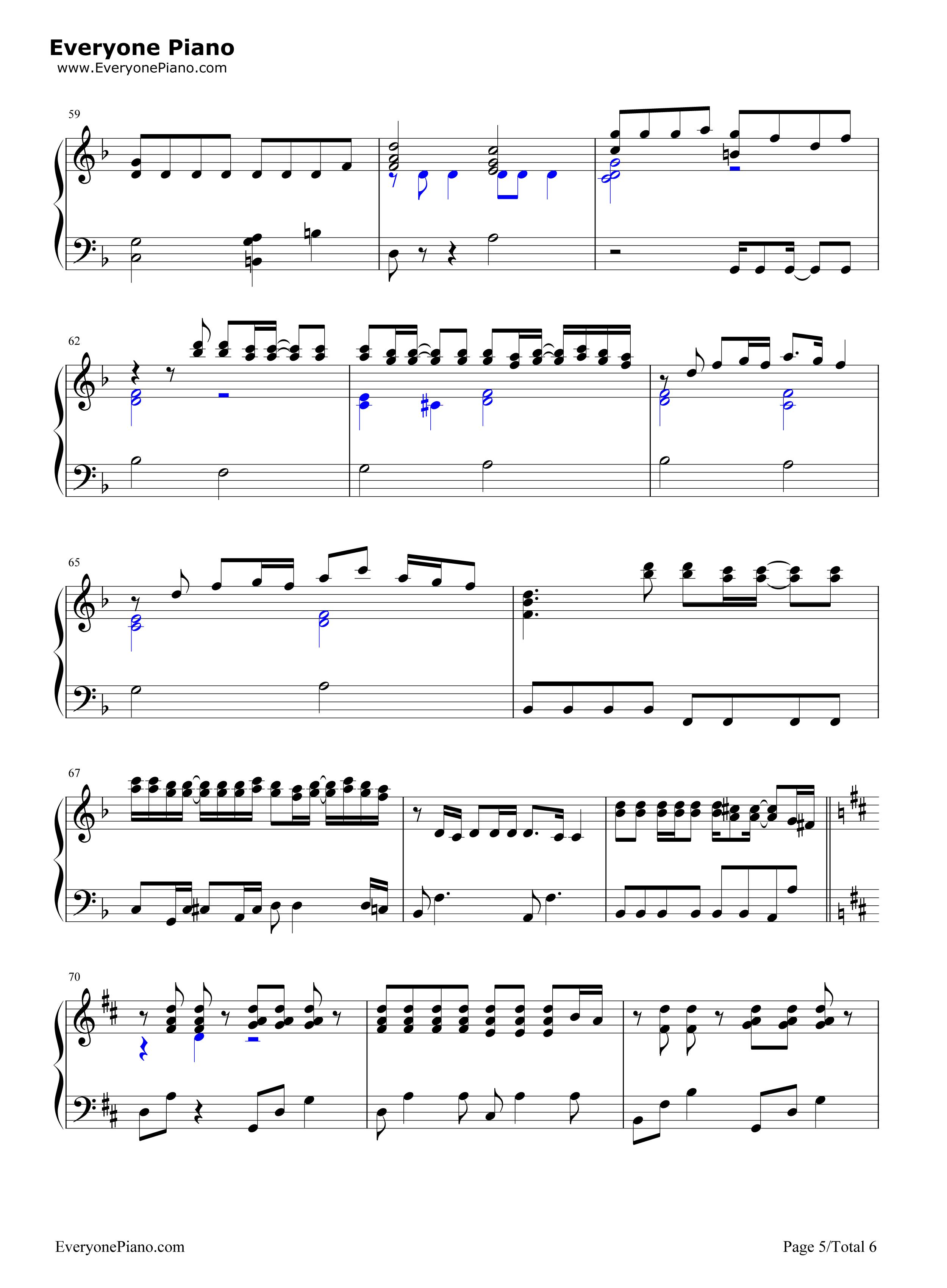 always-名侦探柯南剧场版主题曲五线谱预览5-钢琴谱