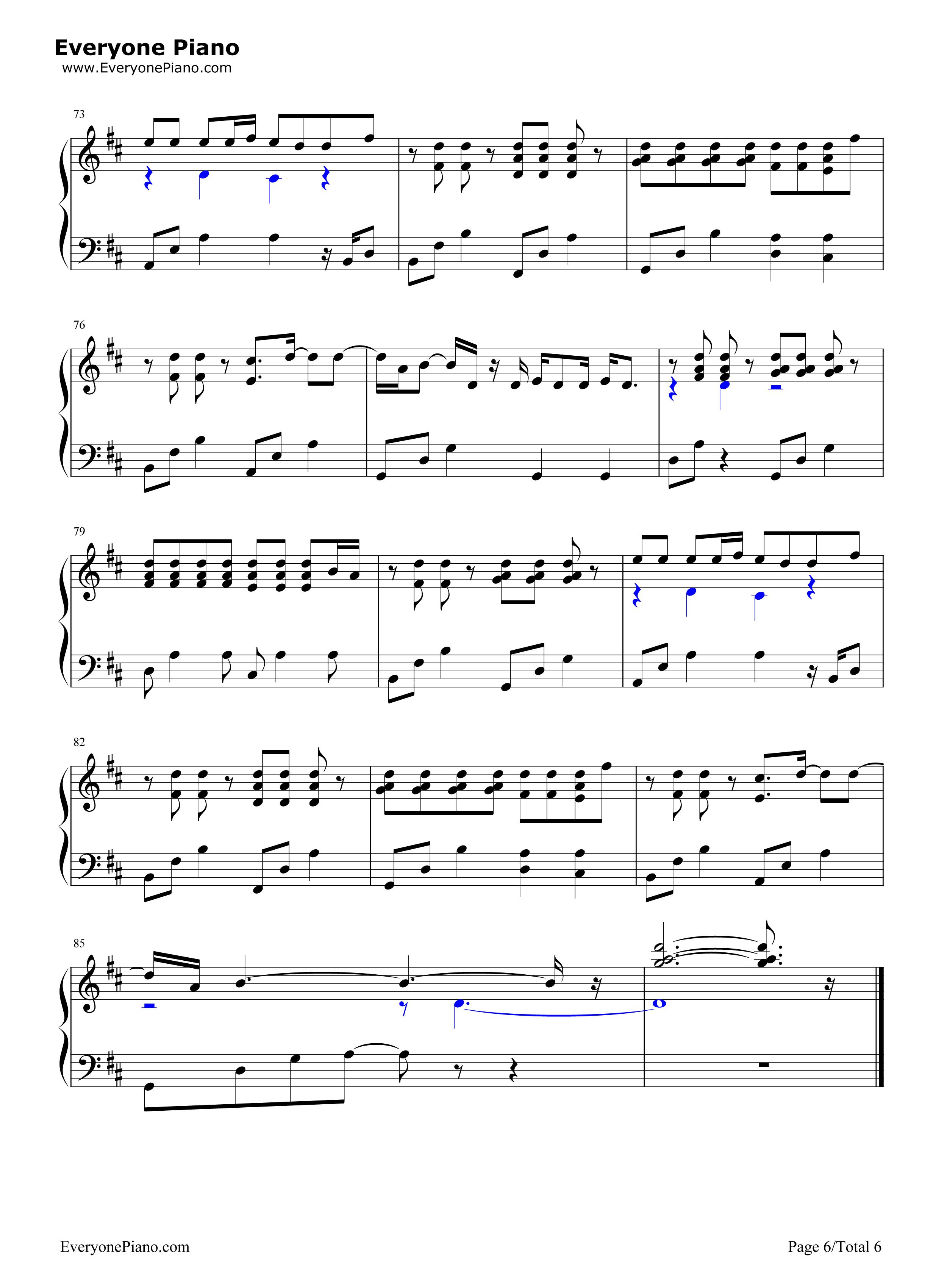 always-名侦探柯南剧场版主题曲五线谱预览6-钢琴谱档