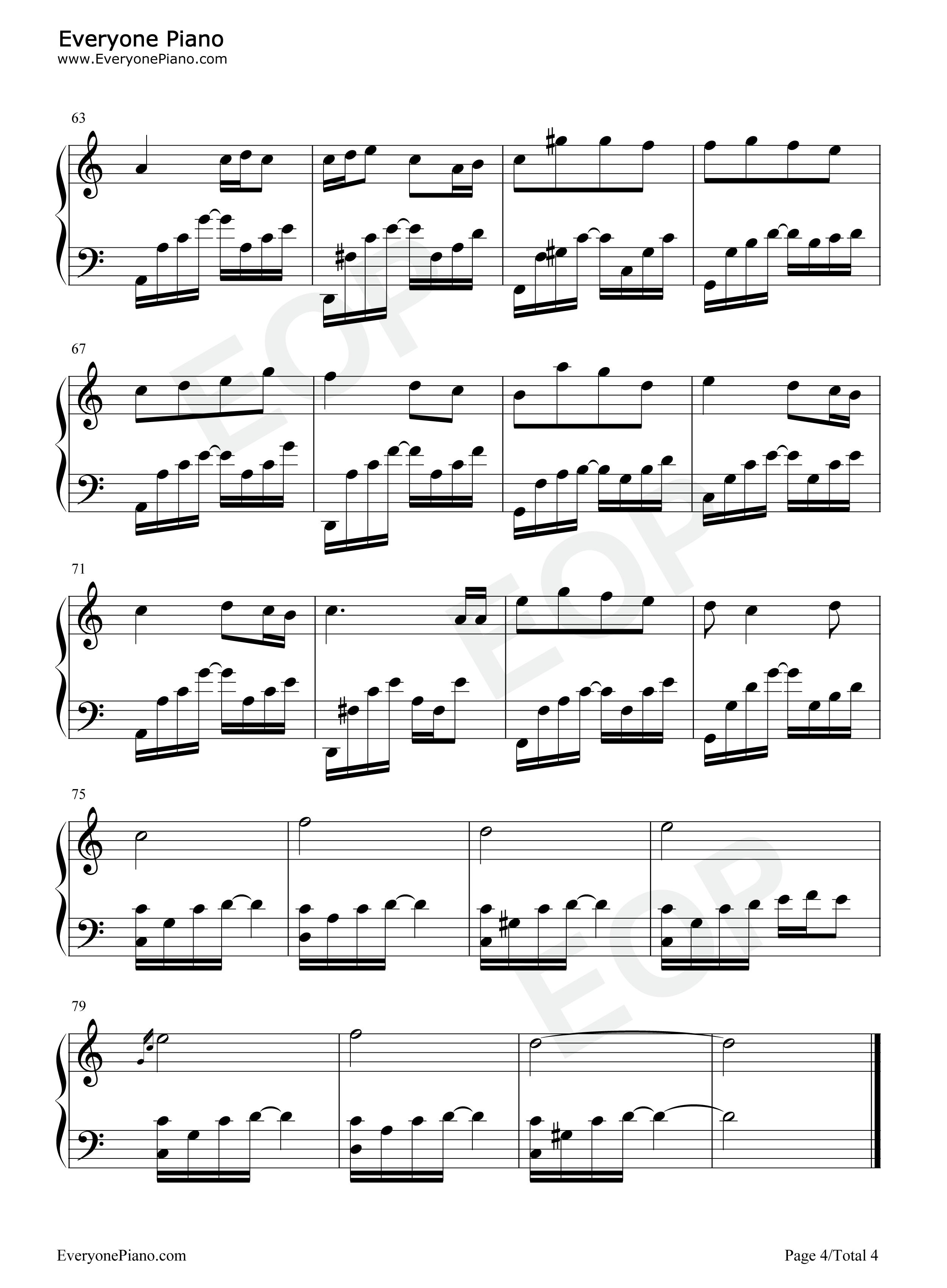 黑色毛衣-周杰伦五线谱预览4