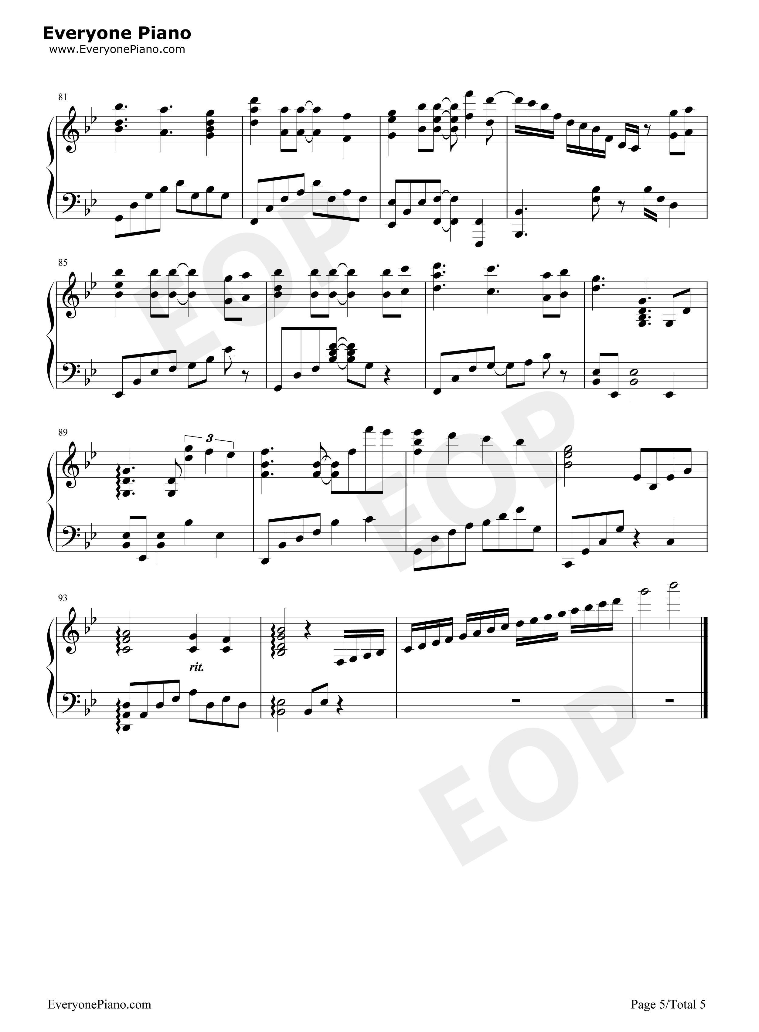 light~-eop教学曲五线谱预览5