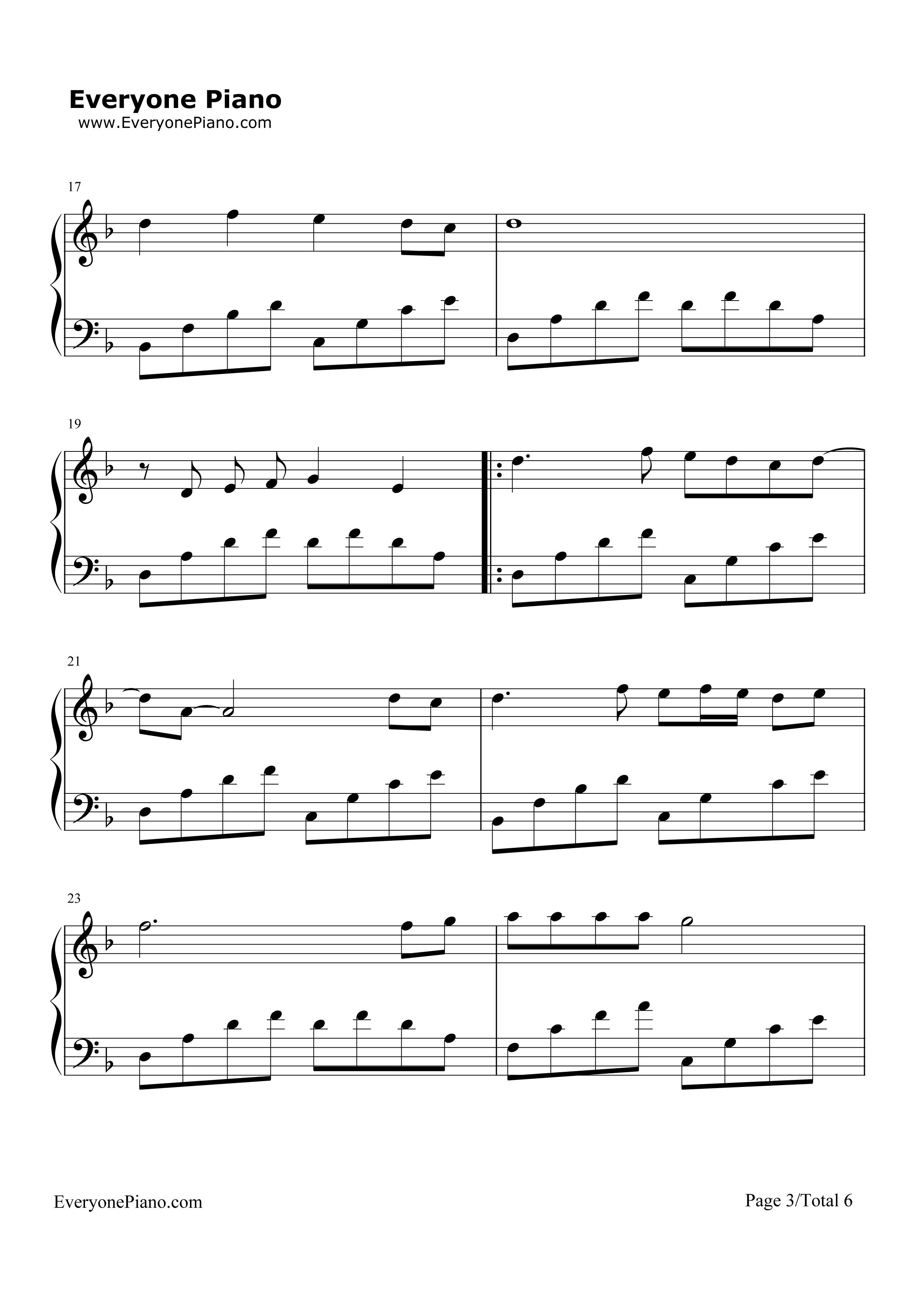 钢琴曲谱 流行 星语心愿-张柏芝 星语心愿-张柏芝五线谱预览3