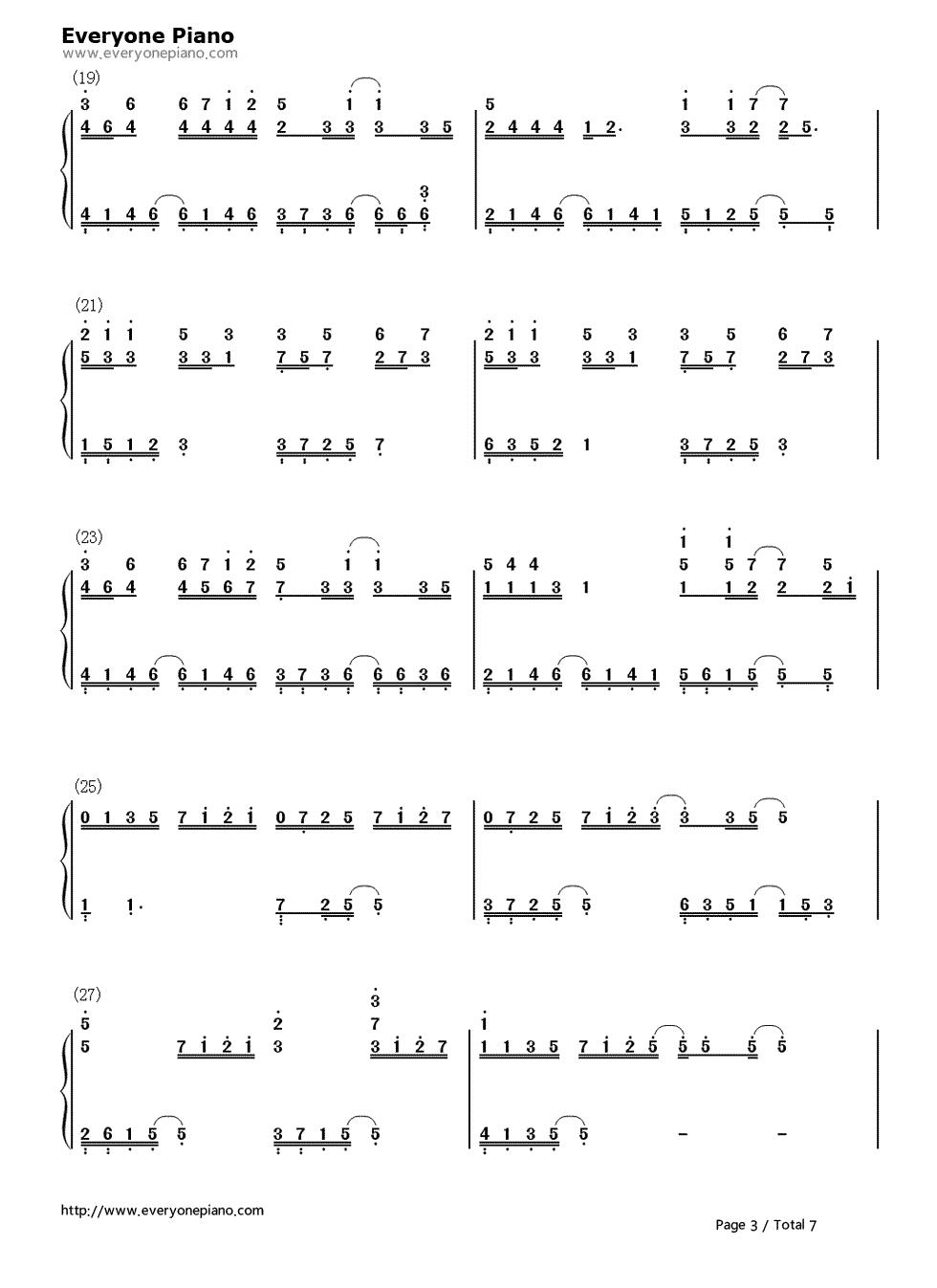 评弹曲谱_慢慢等-韦礼安-eop教学曲双手简谱预览3图片