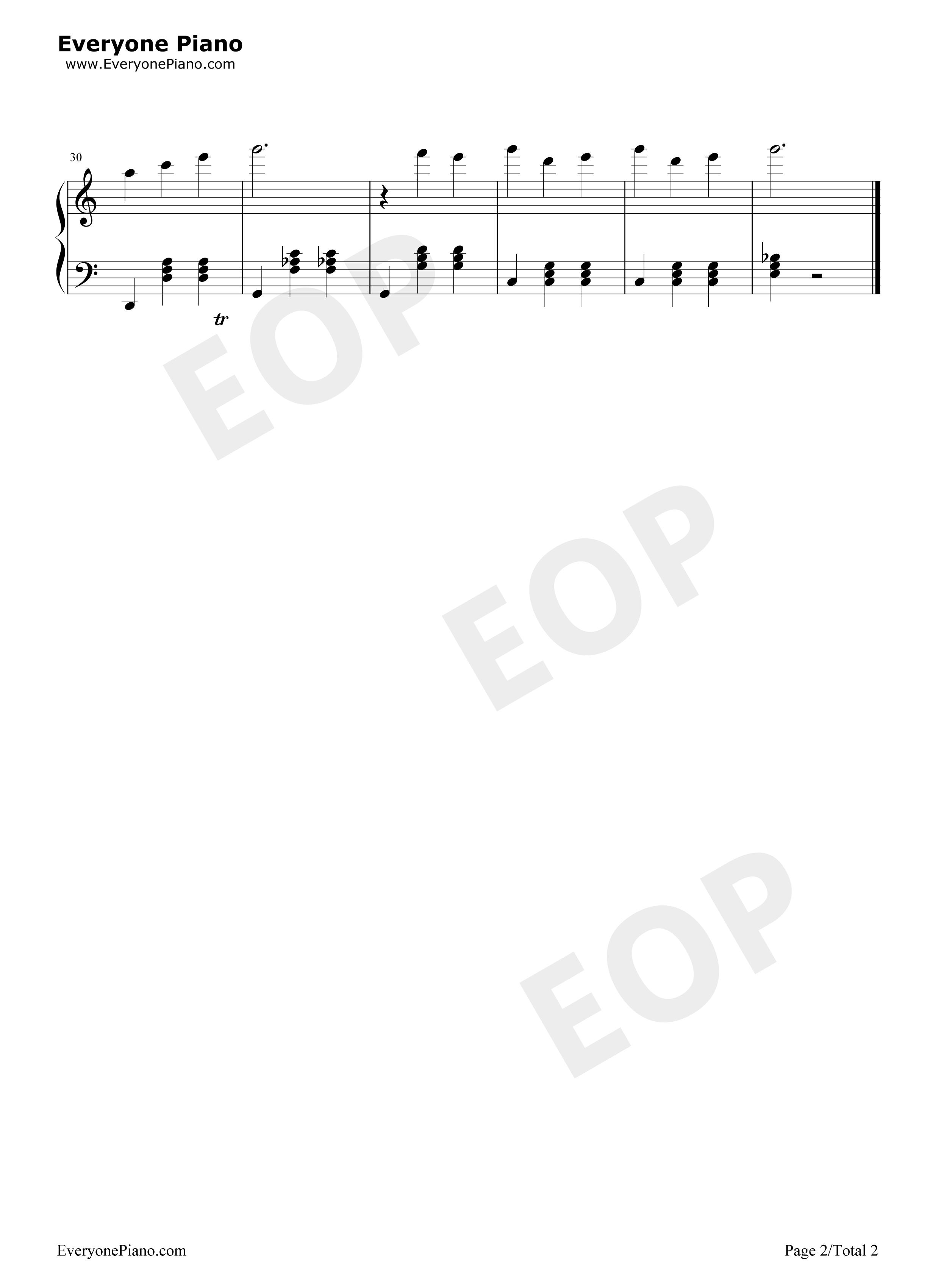 歌曲五线谱预览2