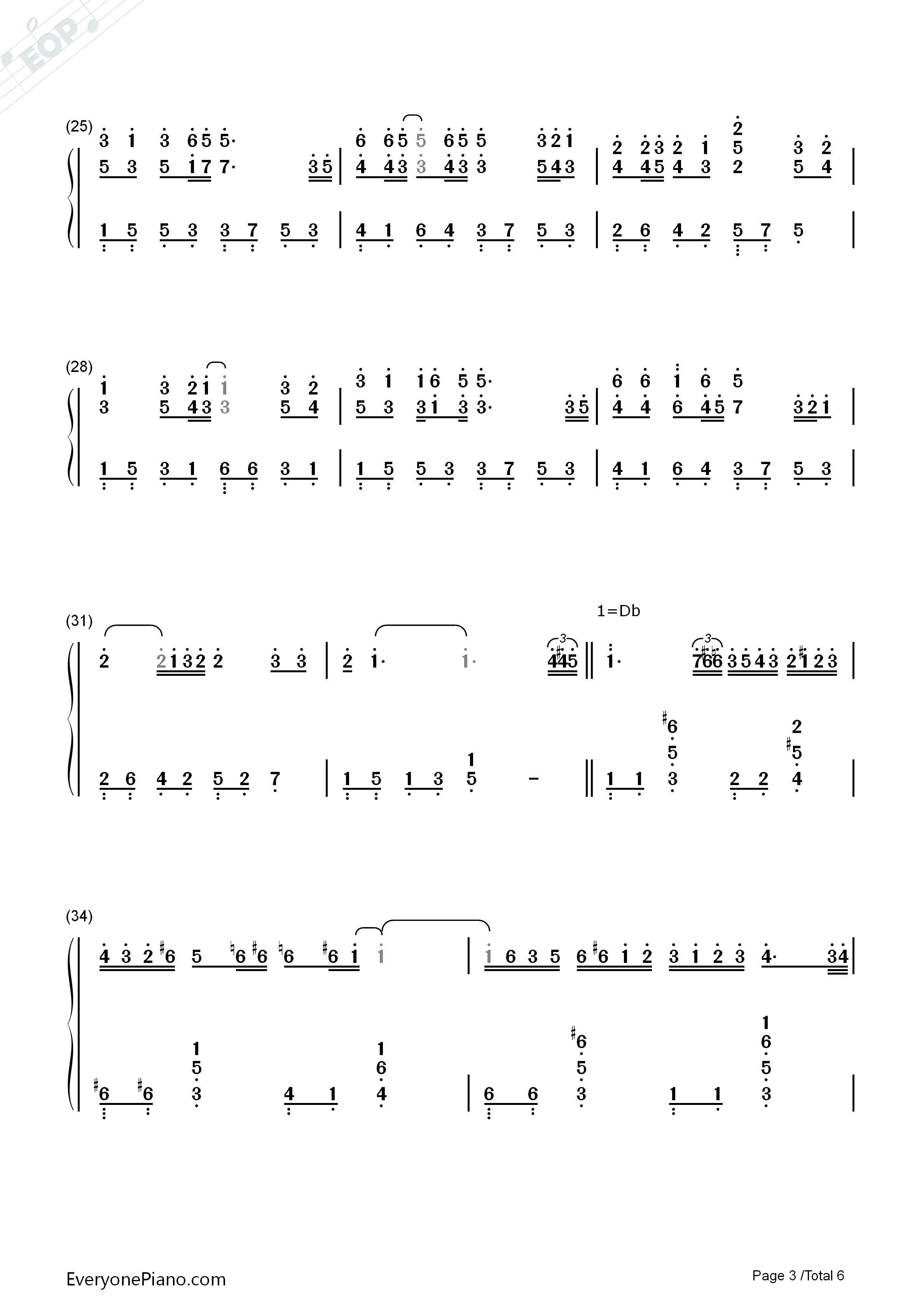 钢琴曲谱 流行 老鼠爱大米 老鼠爱大米双手简谱预览3  }  仅供学习