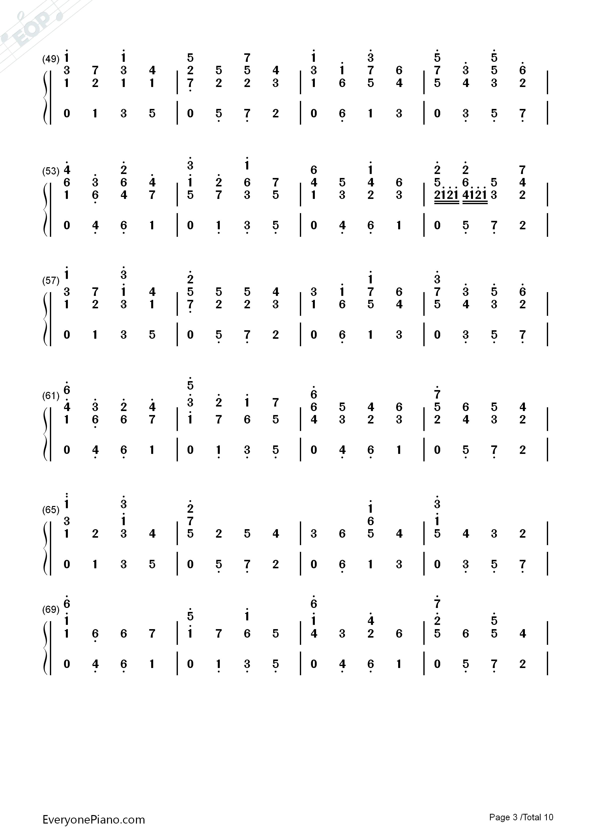 d大调卡农原版-约翰·帕赫贝尔双手简谱预览3