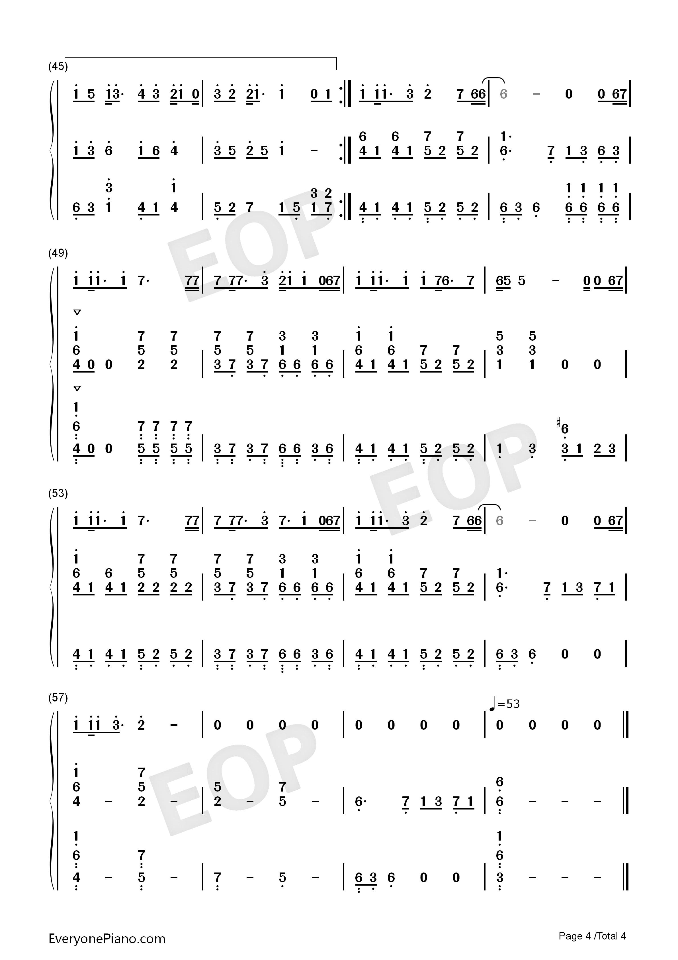 钢琴曲谱 流行 父亲-伴奏-筷子兄弟 父亲-伴奏-筷子兄弟双手简谱预览4