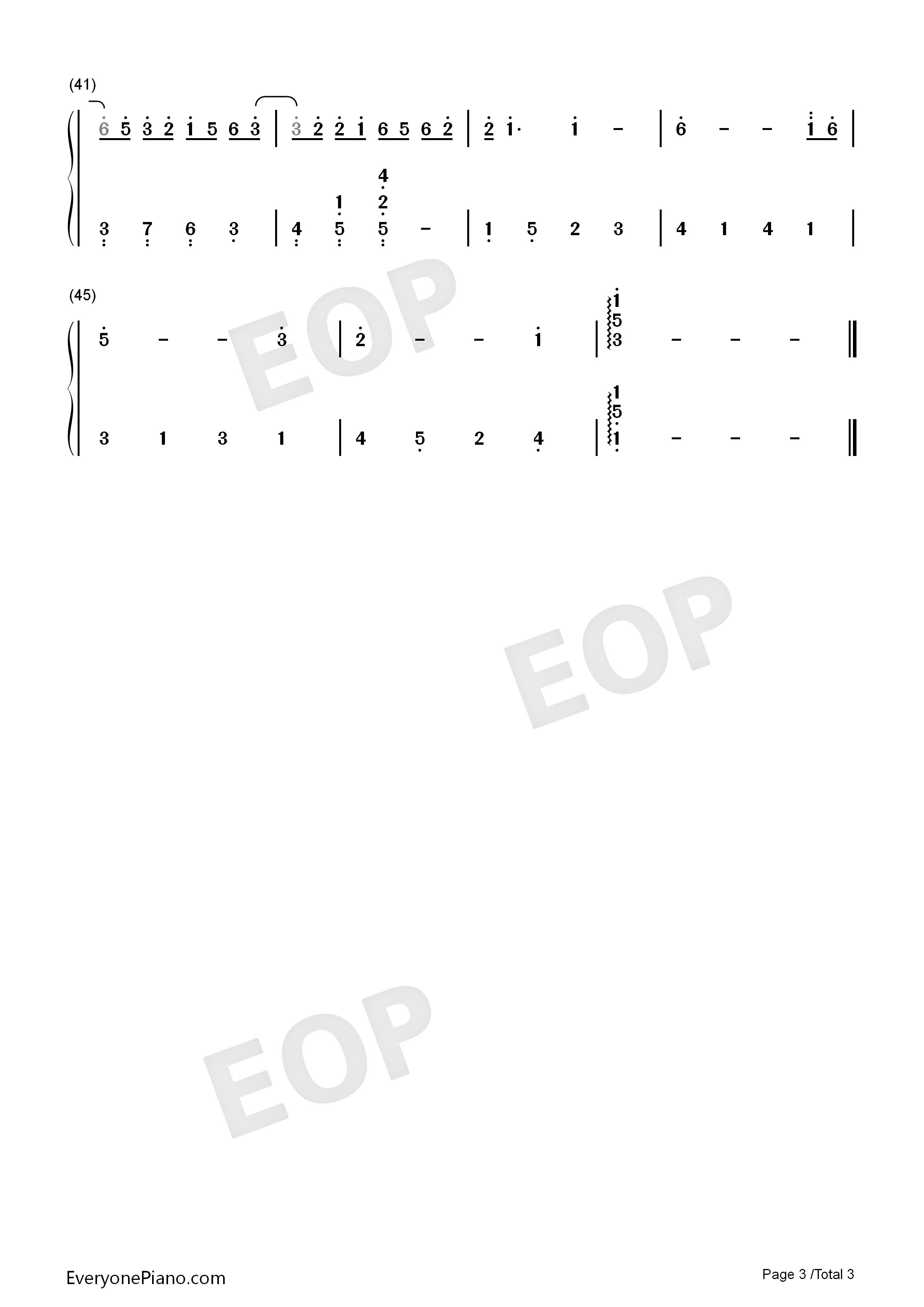 钢琴曲谱 流行 认真的雪-薛之谦-简单版 认真的雪-薛之谦-简单版双手