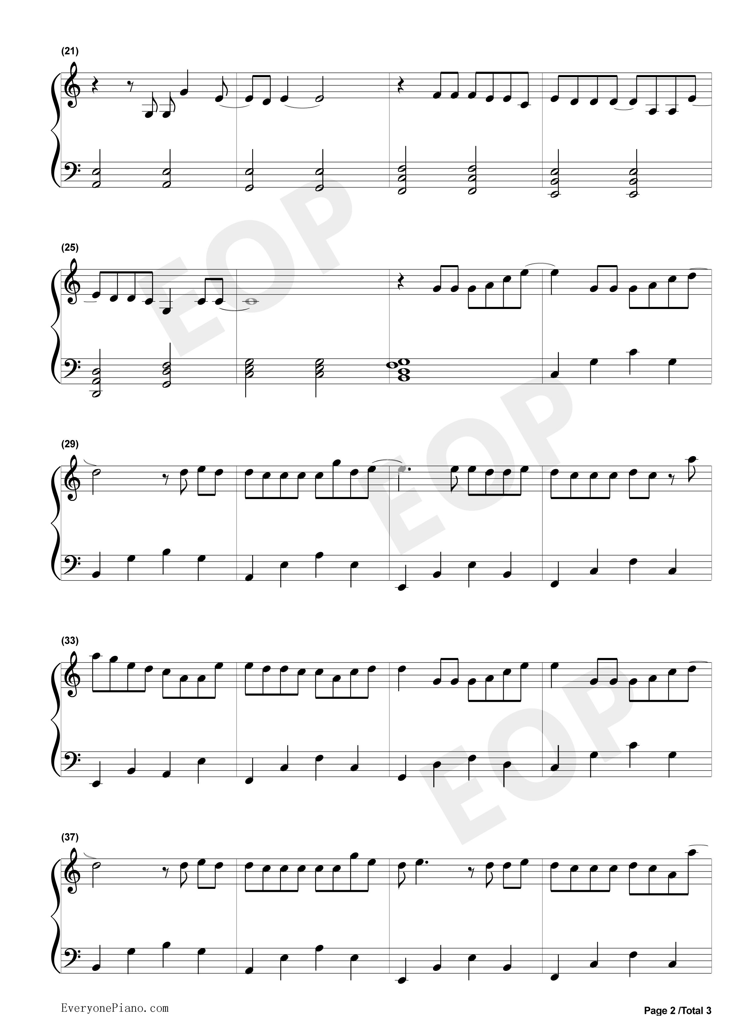 钢琴曲谱 流行 认真的雪-薛之谦-简单版 认真的雪-薛之谦-简单版