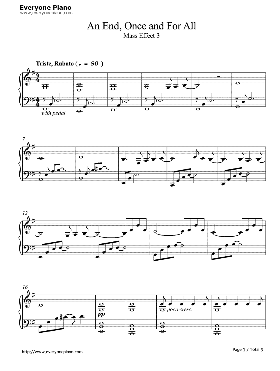 end,once and for all-质量效应3五线谱预览1